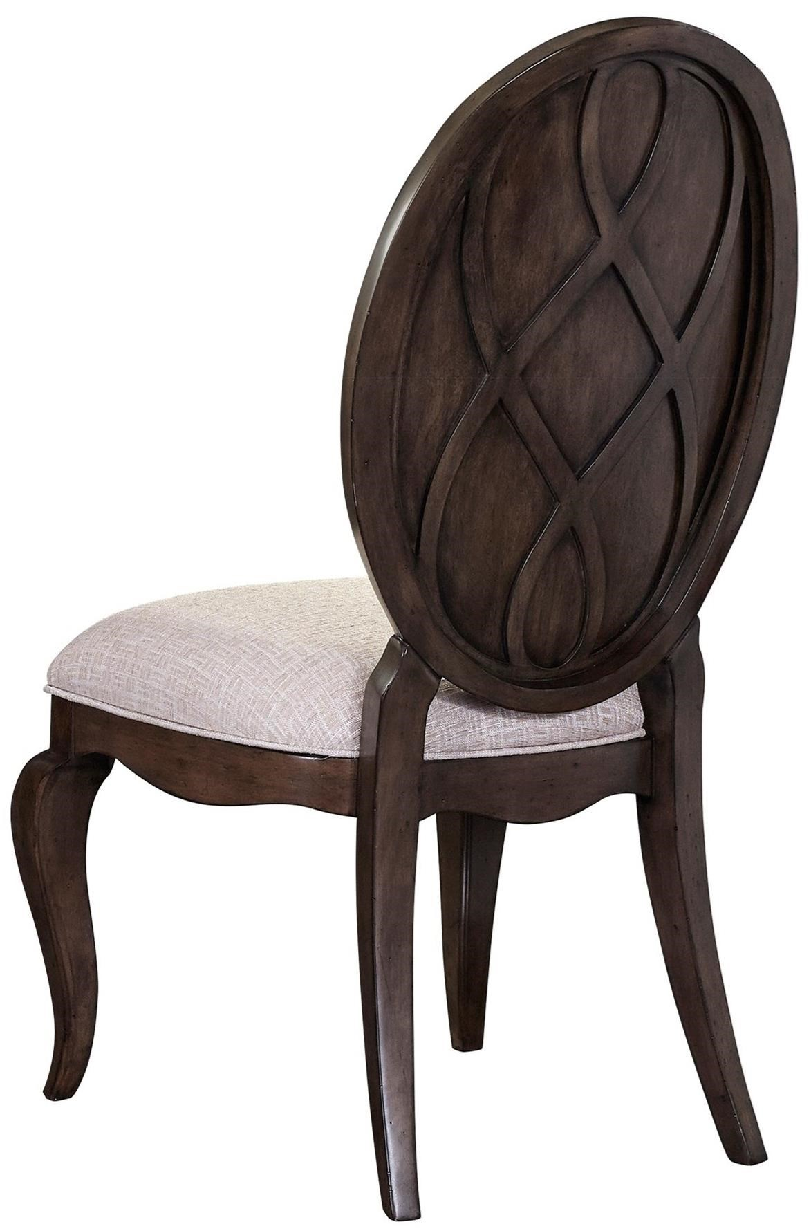 Broyhill furniture cashmera 4860 581 dining side chair for Oval back dining room chairs