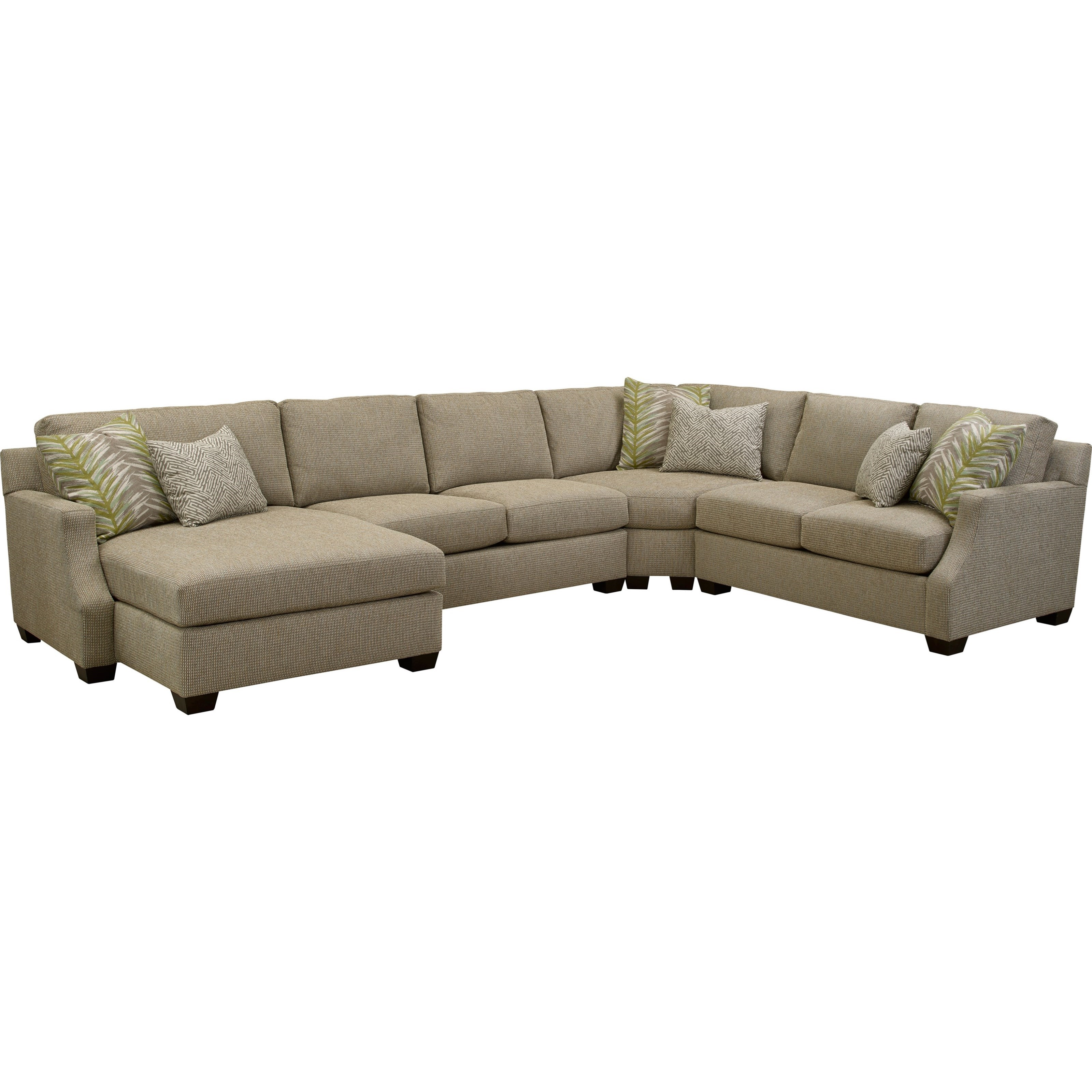 Broyhill furniture chambers large 4 pc sectional sofa for 4 pcs sectional sofa