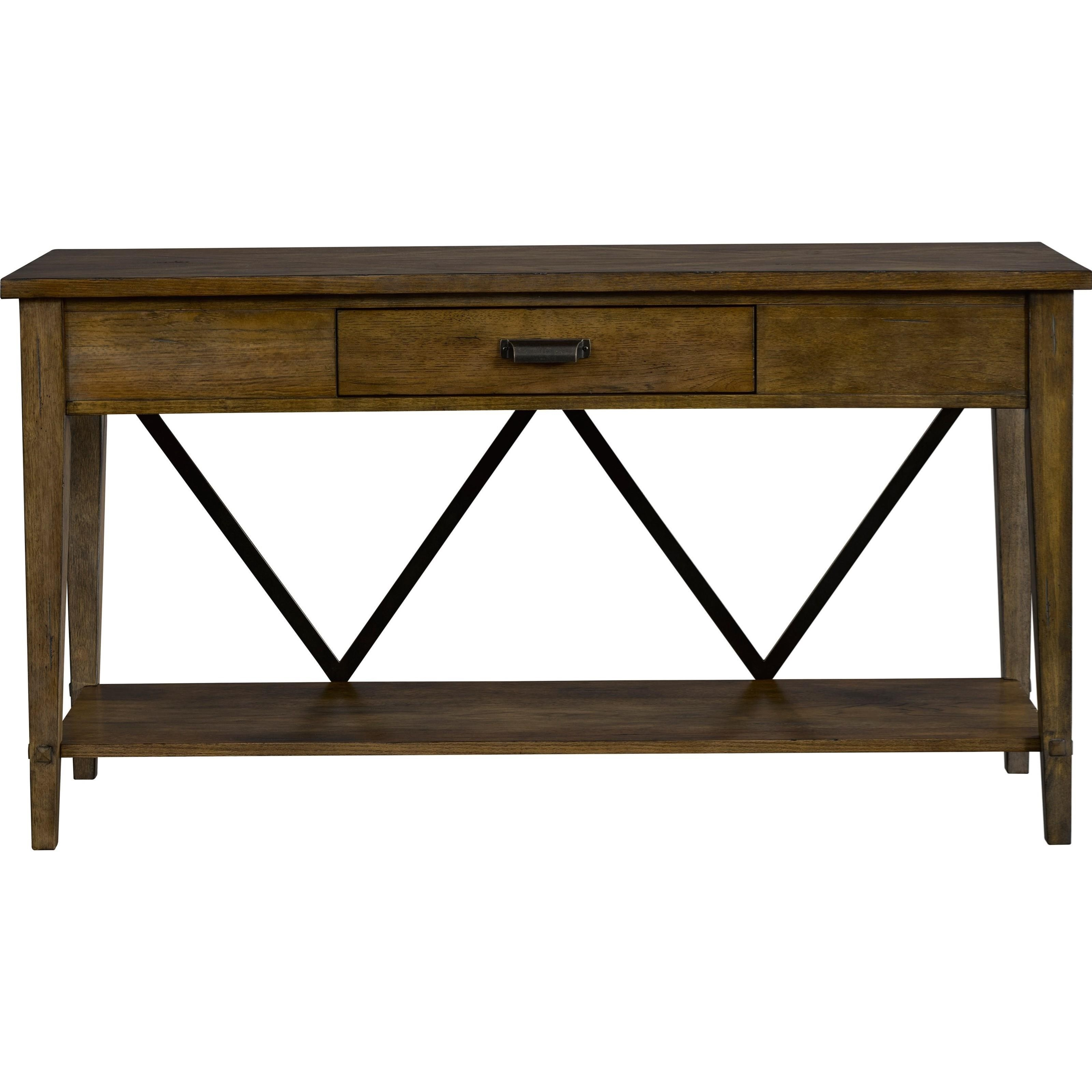 Broyhill furniture creedmoor 1 drawer sofa console table for Sofa console