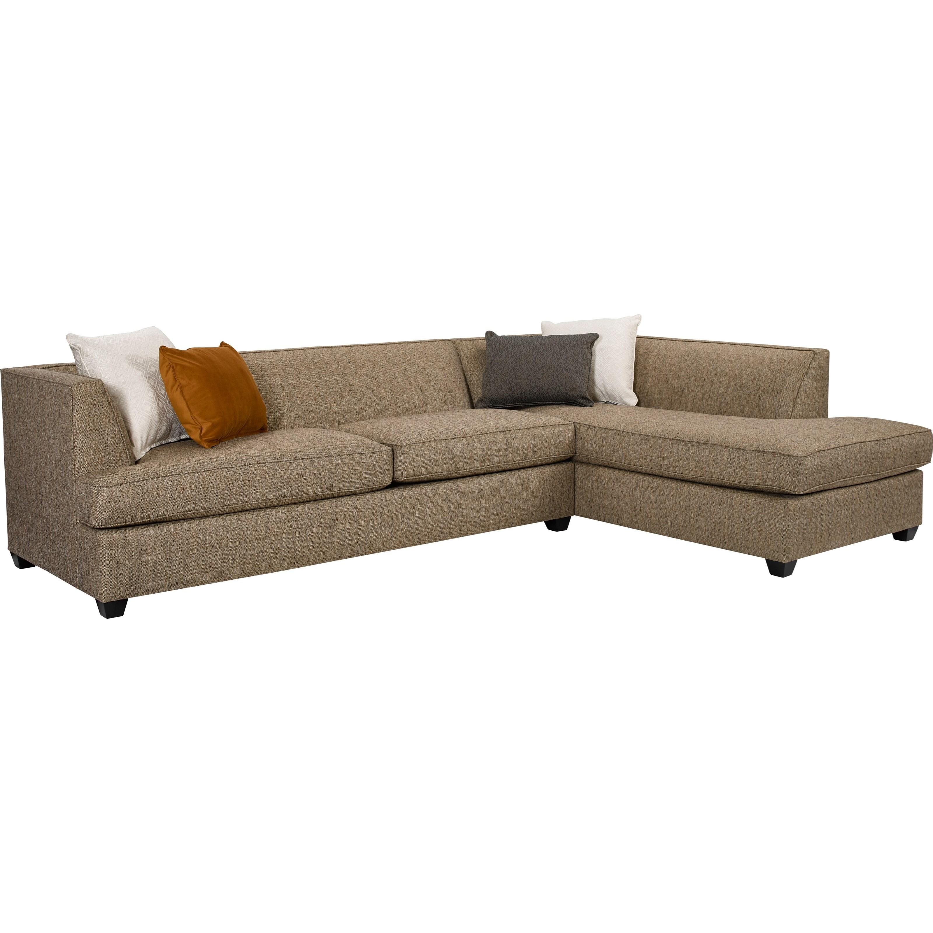 Broyhill furniture farida 2 piece sectional sofa with raf for Broyhill sectional sofa with chaise