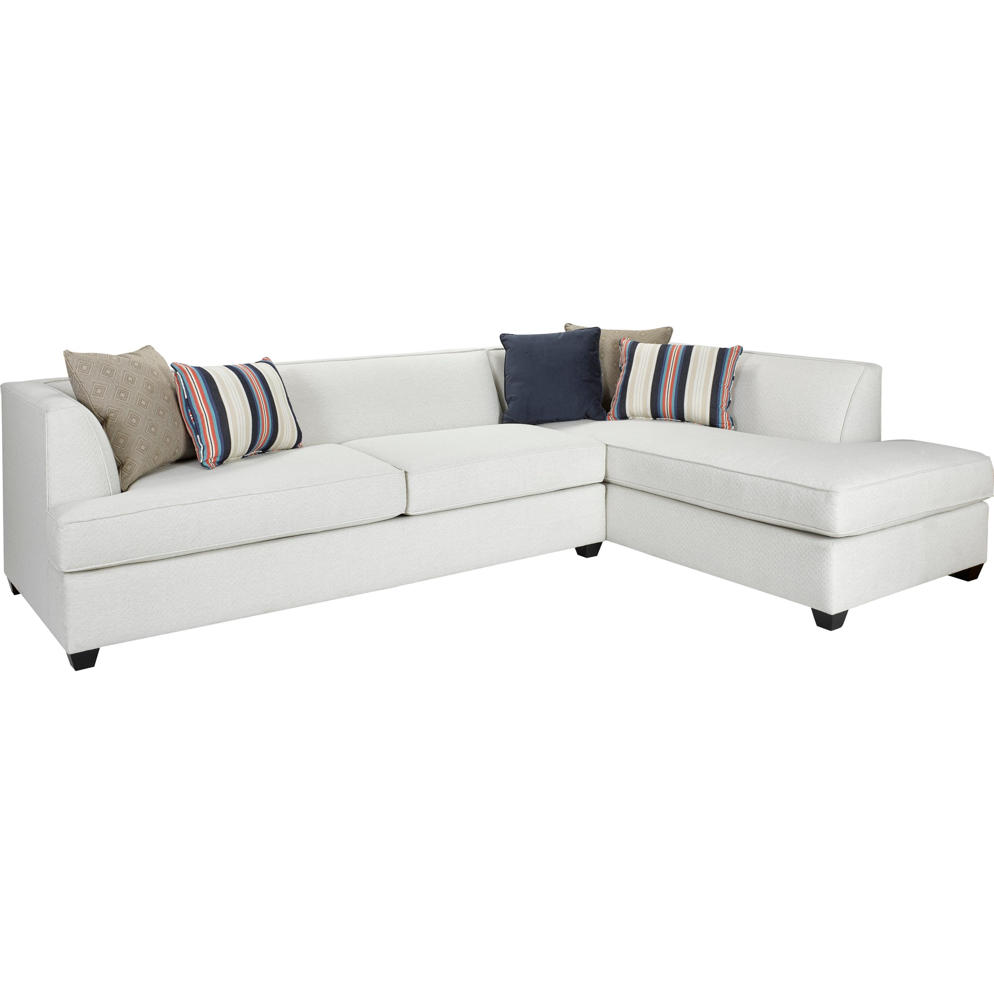 Broyhill furniture farida 2 piece sectional sofa with raf for Two piece sectional sofa with chaise