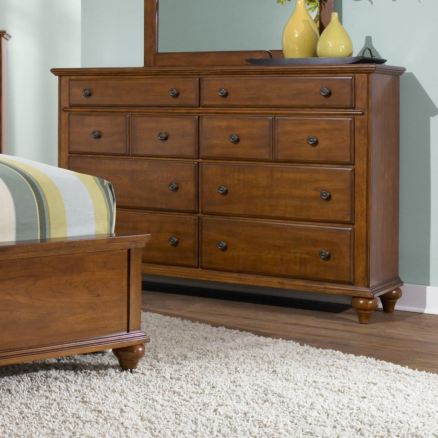 broyhill furniture hayden place 8 drawer dresser with felt lined top