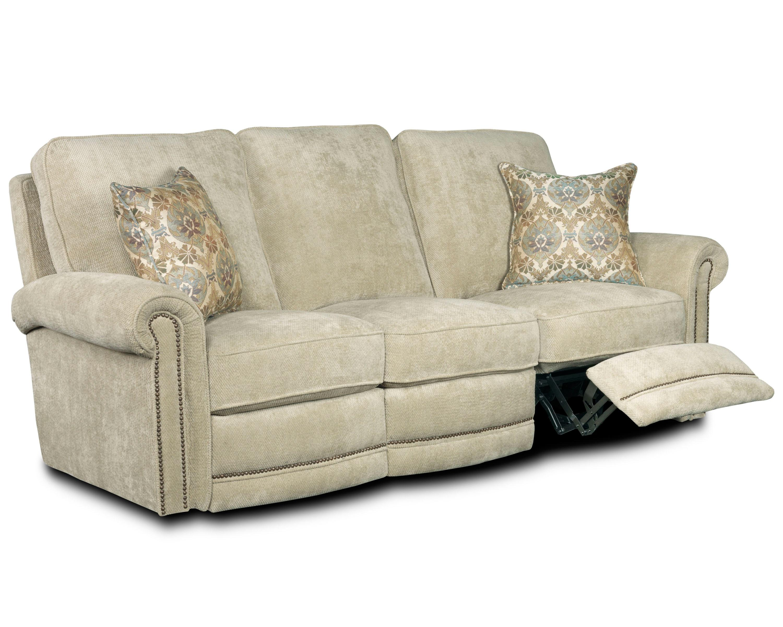 Lane jasmine 258 39 traditional manual reclining sofa for Traditional style reclining sofa