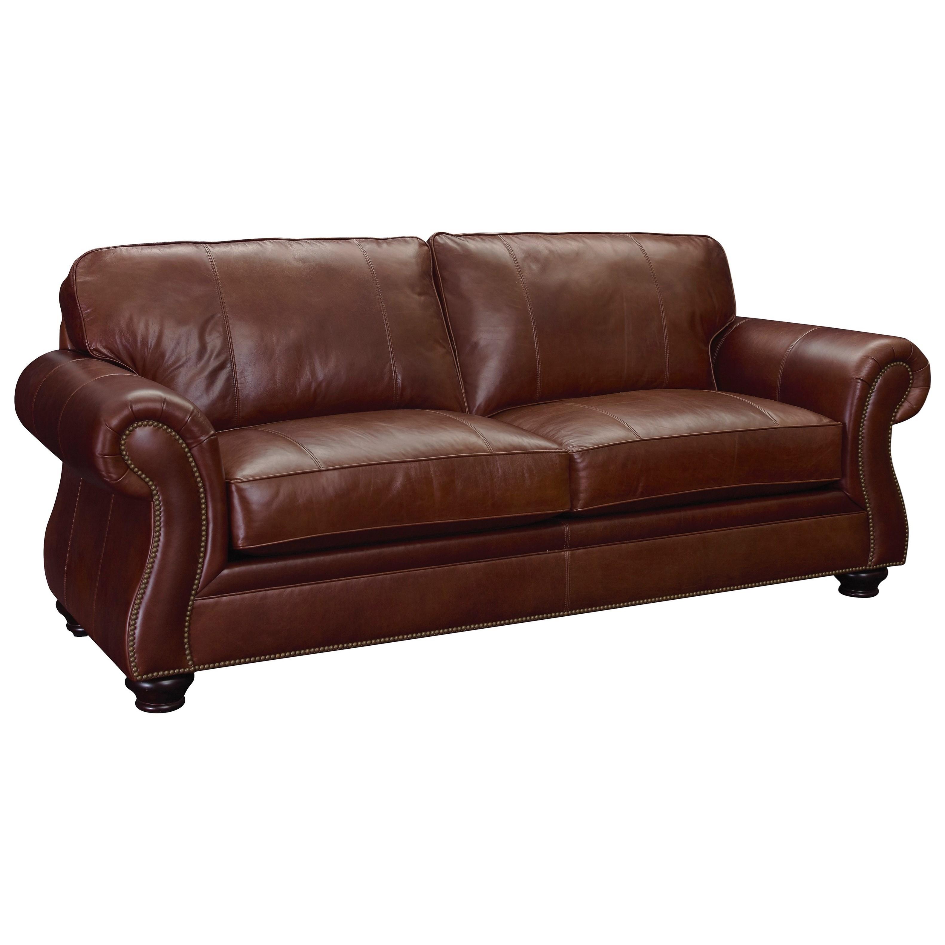 broyhill furniture laramie air dream sofa sleeper with nail head trim knight furniture. Black Bedroom Furniture Sets. Home Design Ideas