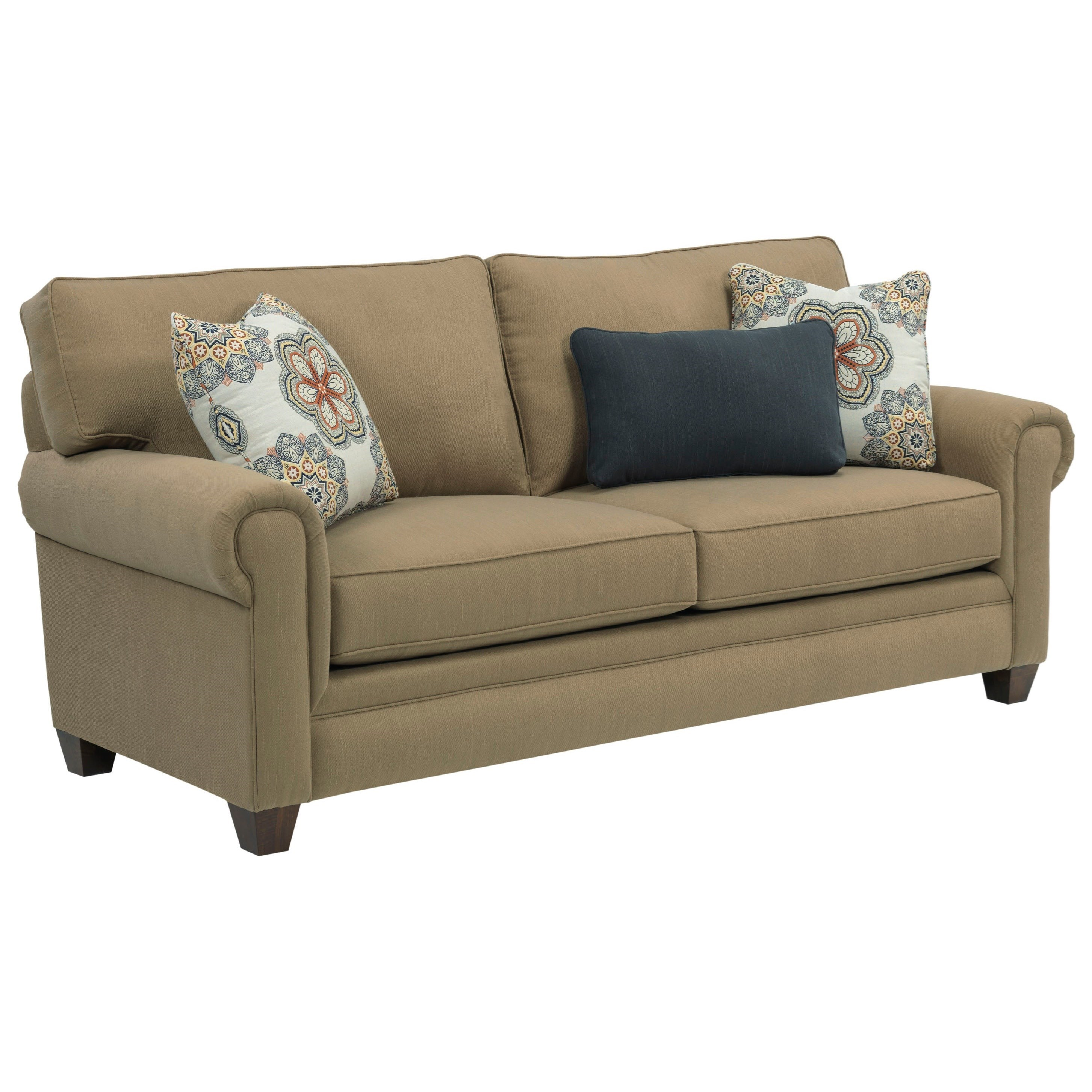 broyhill furniture monica transitional queen air dream sleeper sofa with rolled arms knight. Black Bedroom Furniture Sets. Home Design Ideas