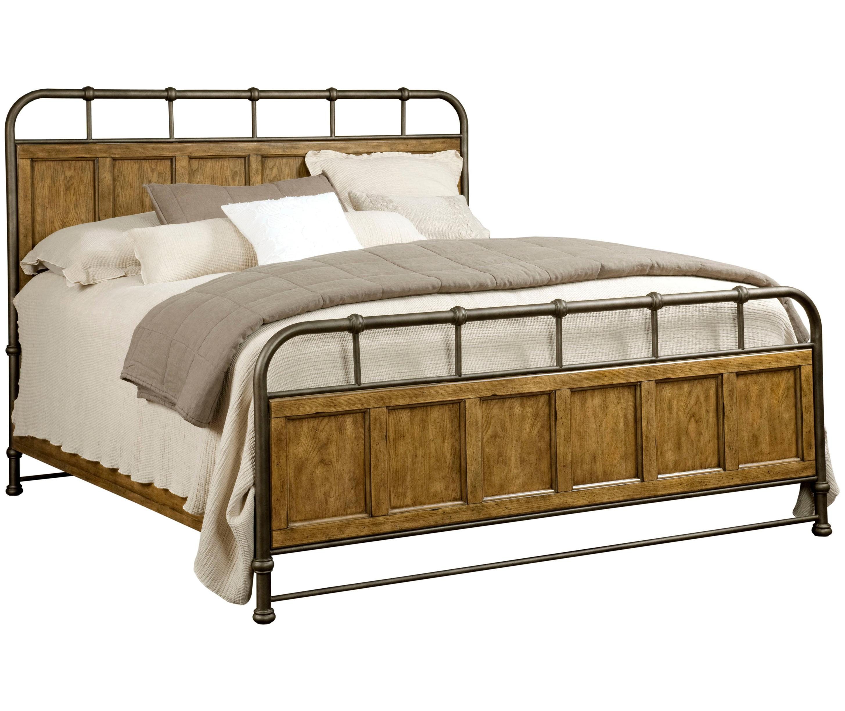 Broyhill Furniture New Vintage Queen Metal And Wood Bedstead Conlin 39 S Furniture Panel Beds