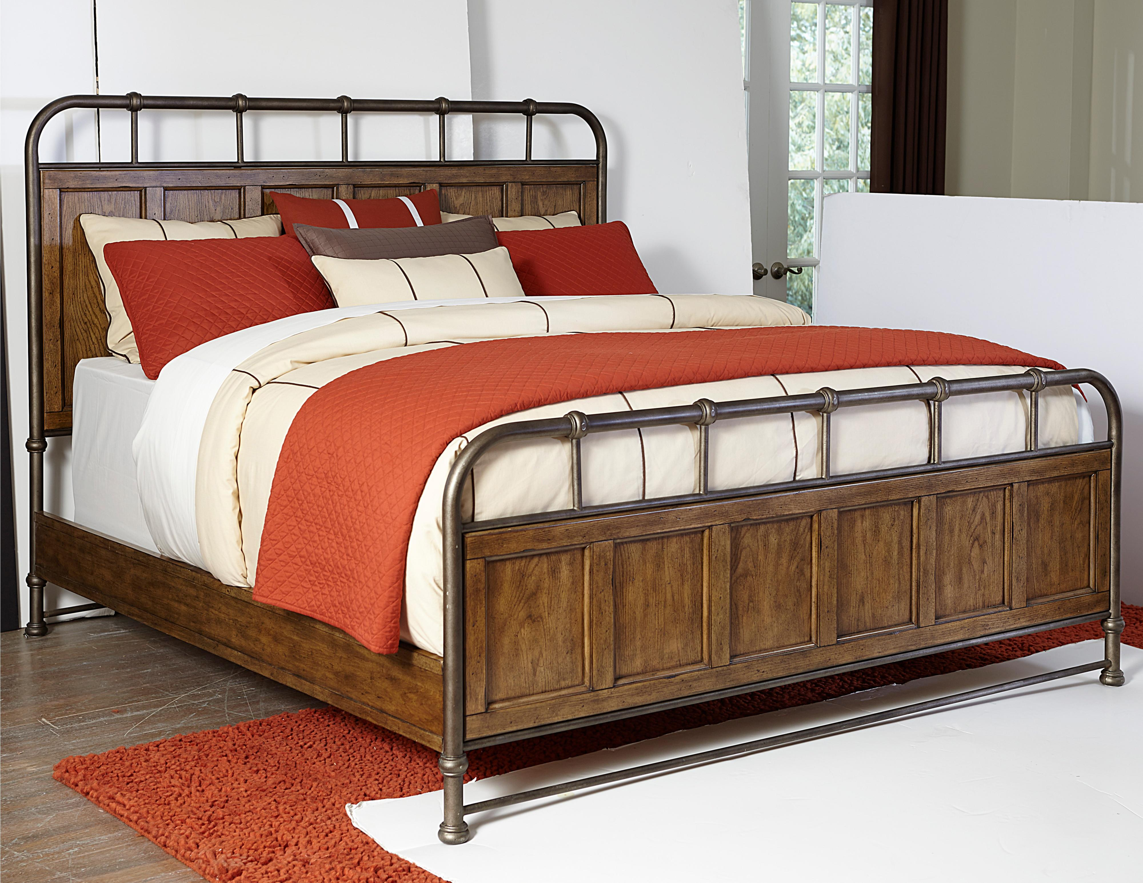 Broyhill Furniture New Vintage Queen Metal And Wood Bedstead Steger 39 S Furniture Panel Beds