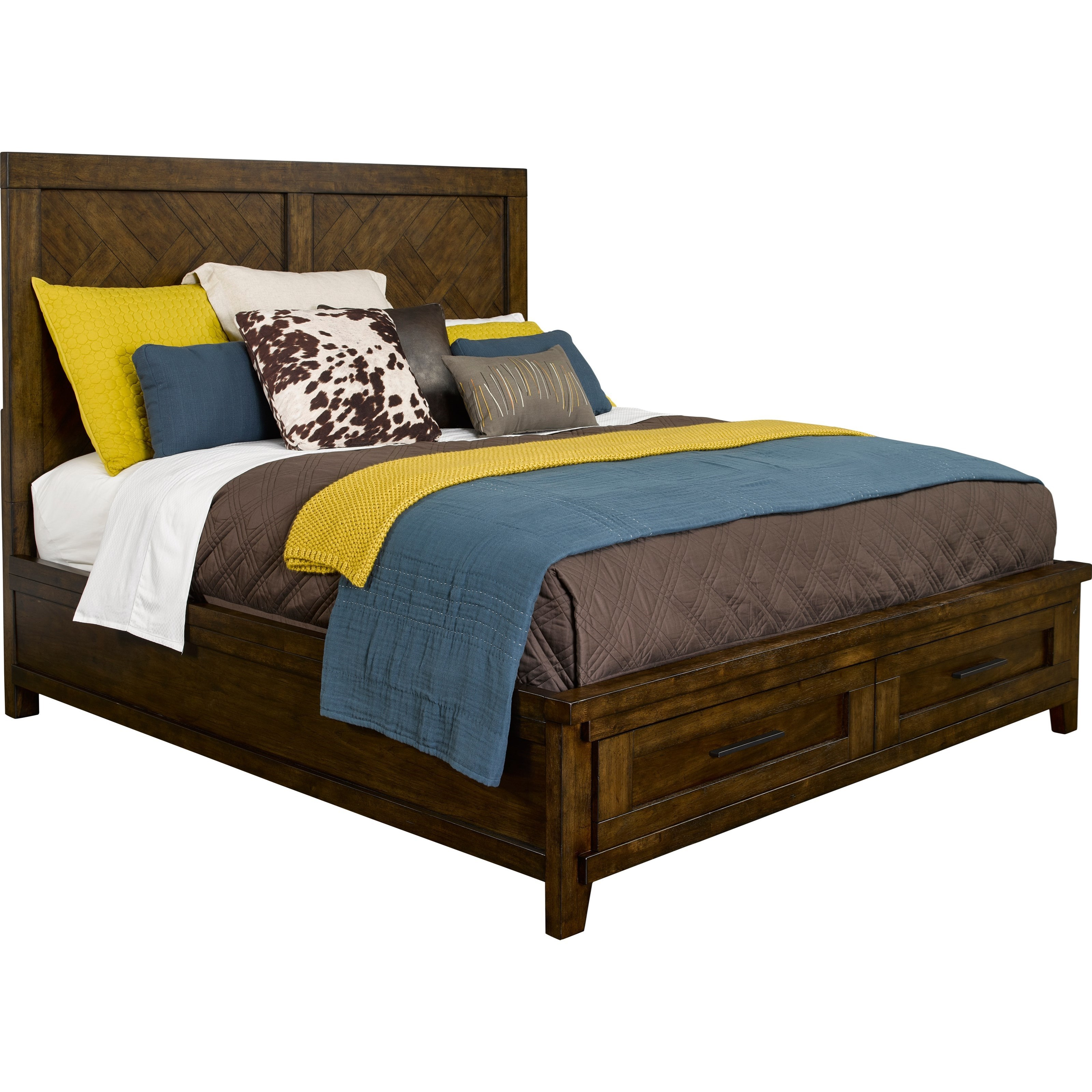 Broyhill furniture pieceworks queen panel storage bed with for Broyhill sofa bed
