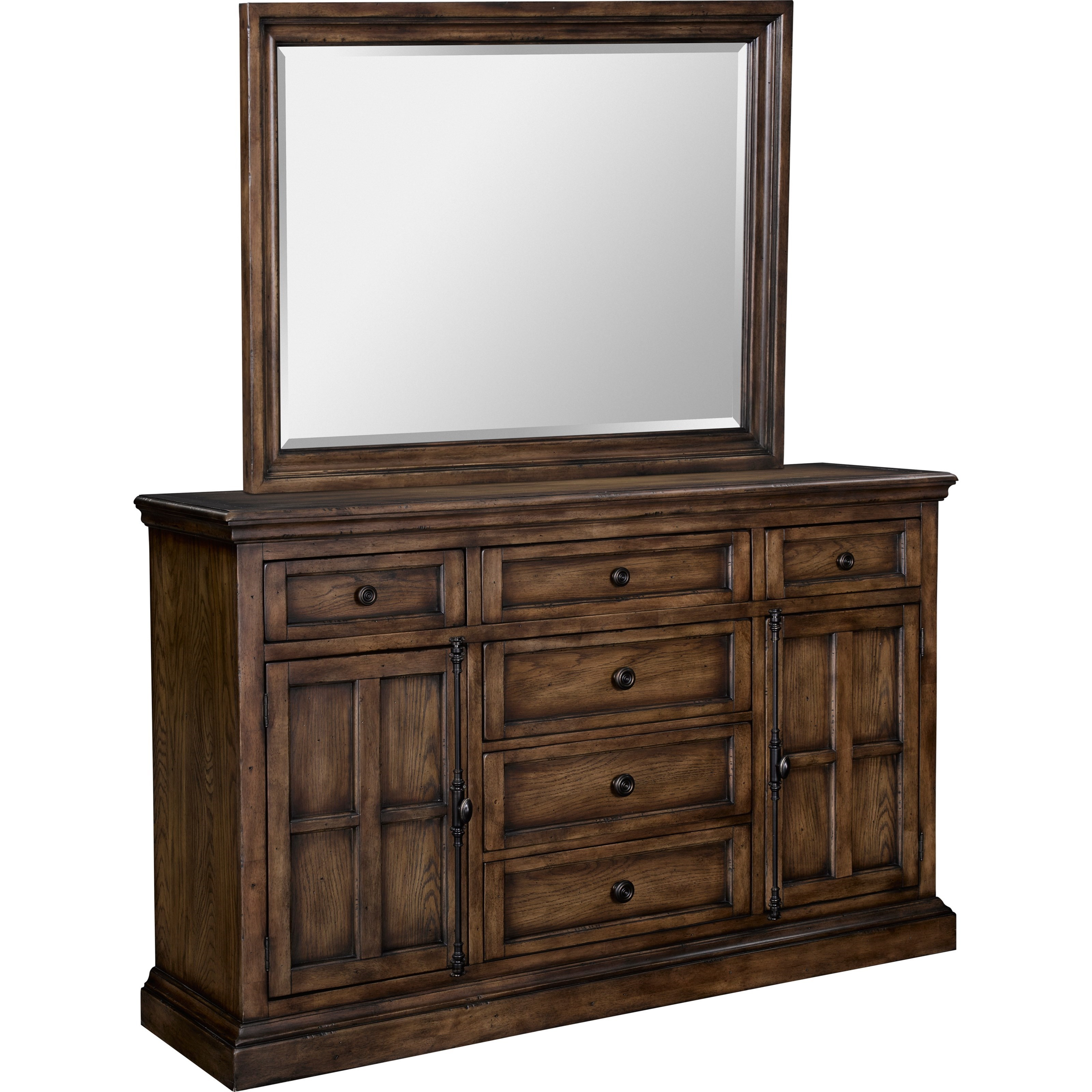 Broyhill furniture pike place grand dresser and beveled for Place furniture
