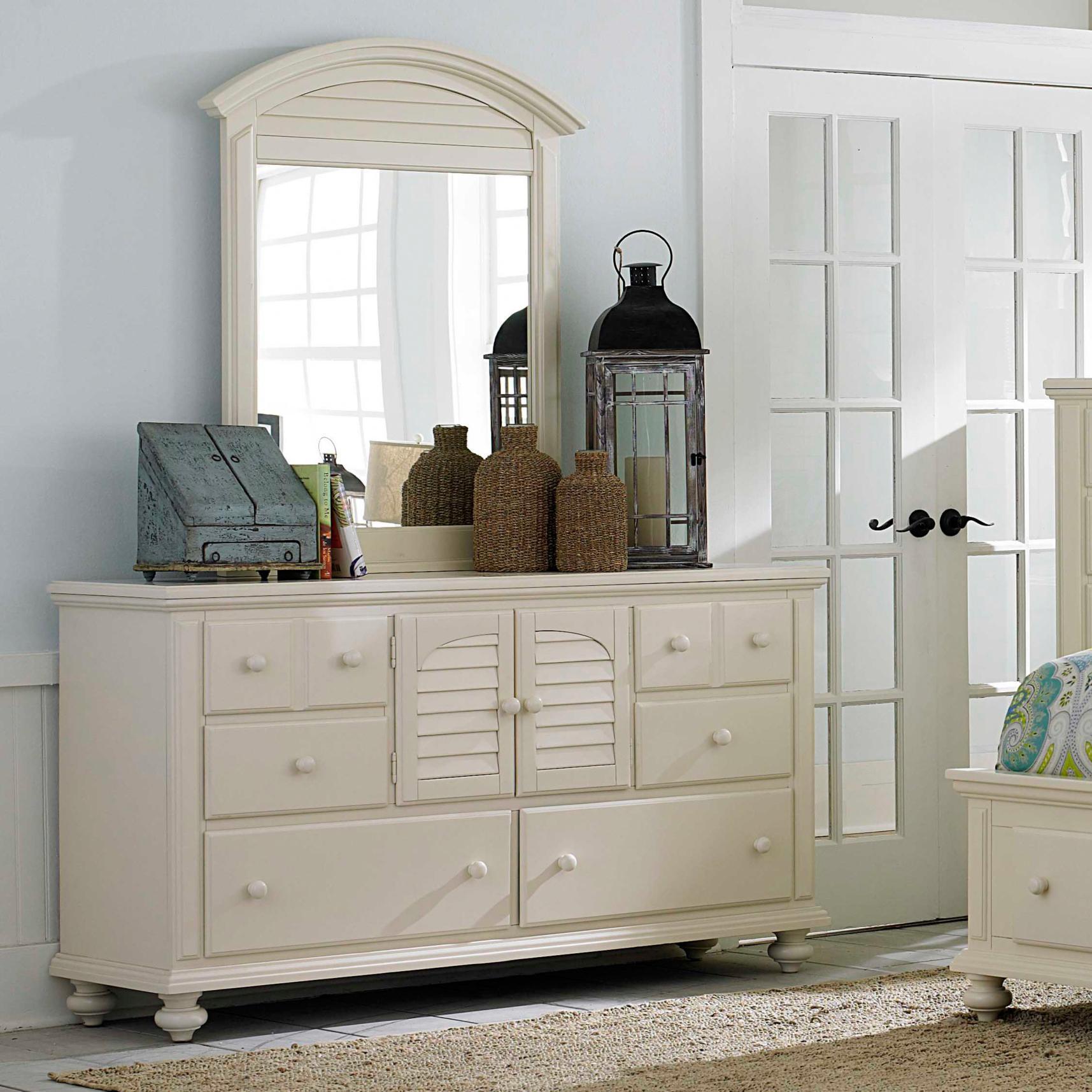 Broyhill Furniture Seabrooke 2 Door Dresser With Mirror Baer 39 S Furniture Dresser Mirror Sets
