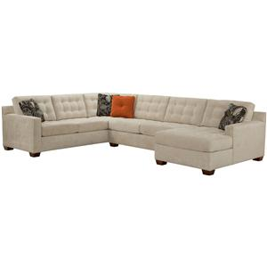 Broyhill furniture tribeca contemporary sectional sofa for Broyhill sectional sofa with chaise