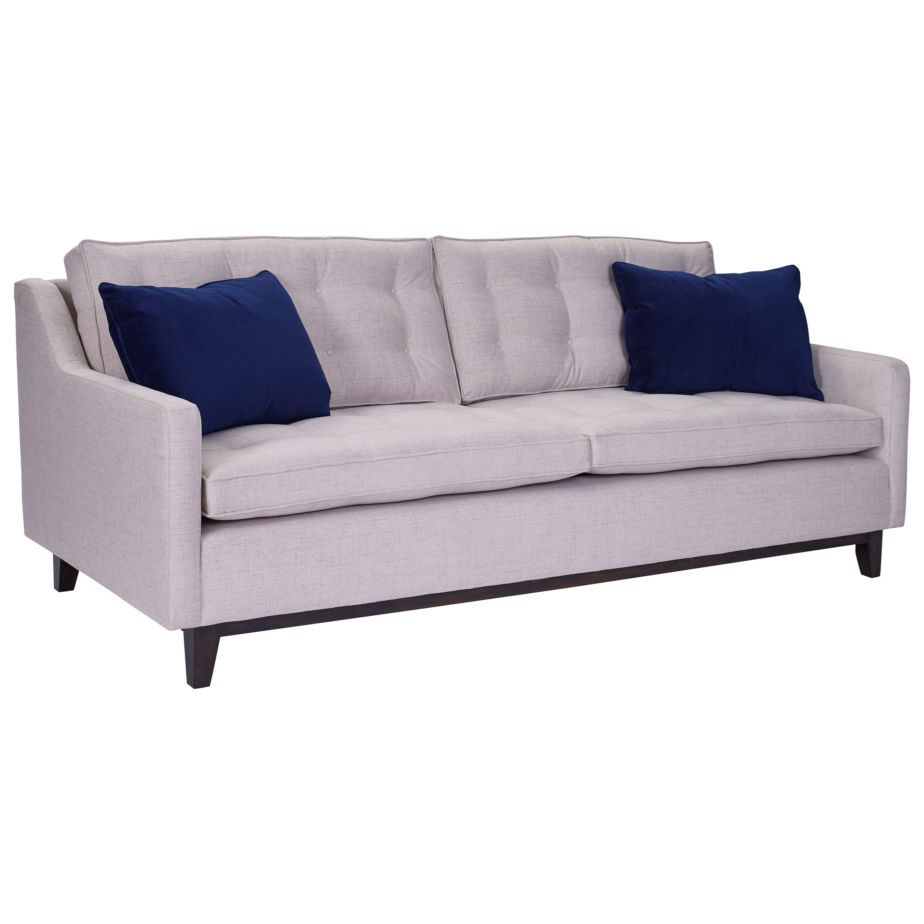 Broyhill furniture tula mid century modern sofa with wood for Mid century modern furniture hawaii
