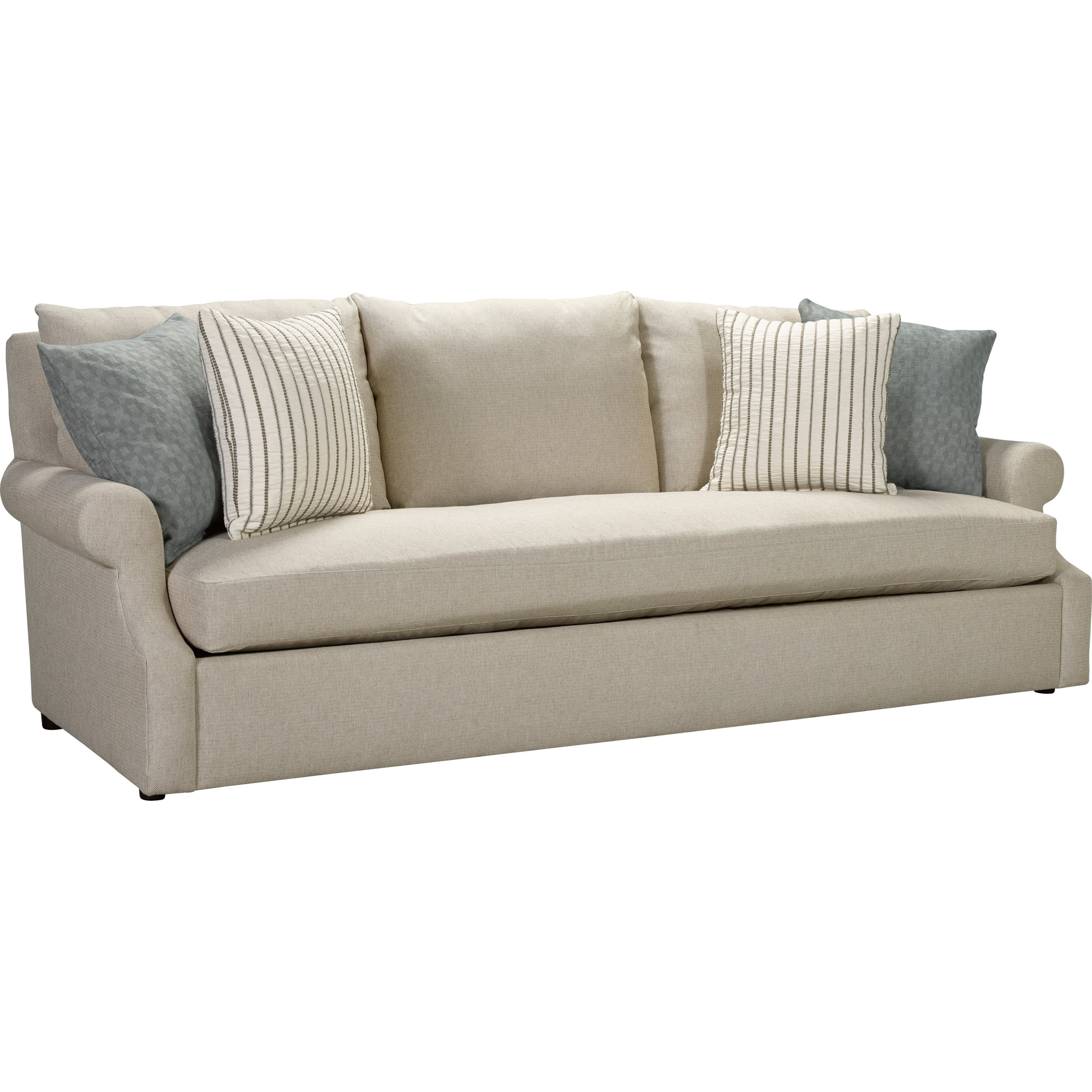 Broyhill furniture willa casual sofa with single seat for Casual couch