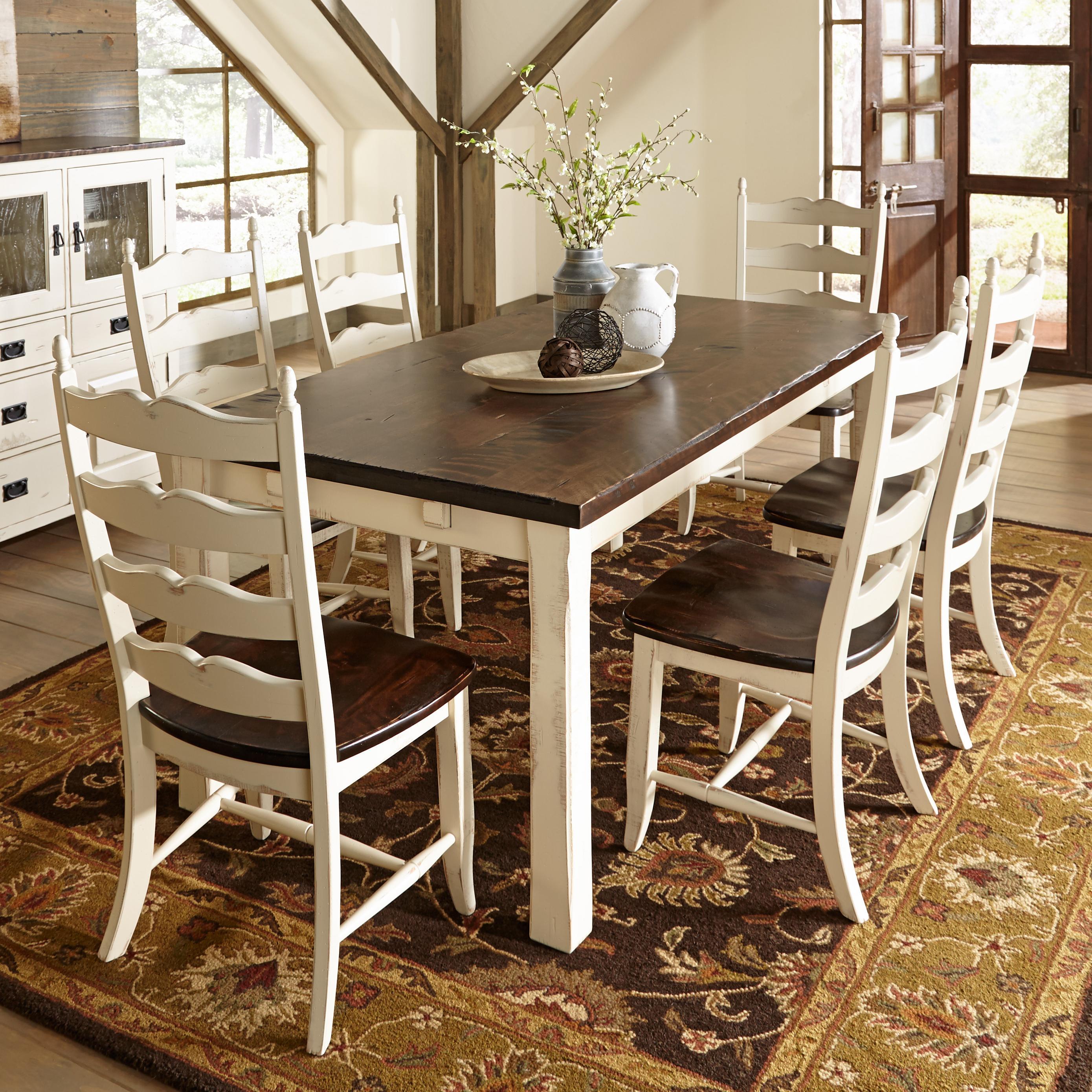 canadel champlain custom dining customizable rectangular table set becker furniture world. Black Bedroom Furniture Sets. Home Design Ideas