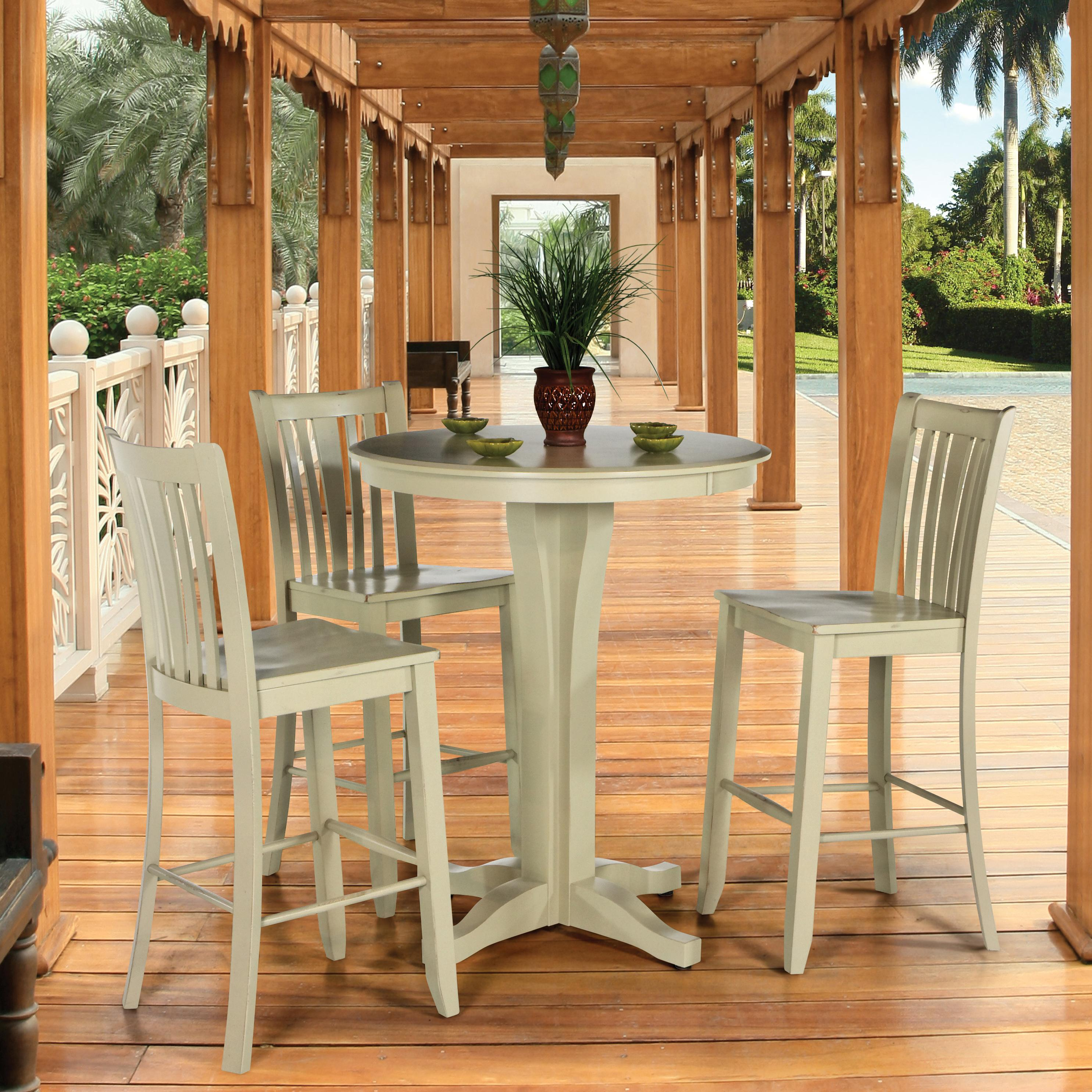 Canadel custom dining high dining customizable round pub for High top dining set