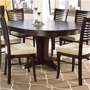 Canadel Custom Dining Customizable Round Table With Leaf Set Dinette Depot