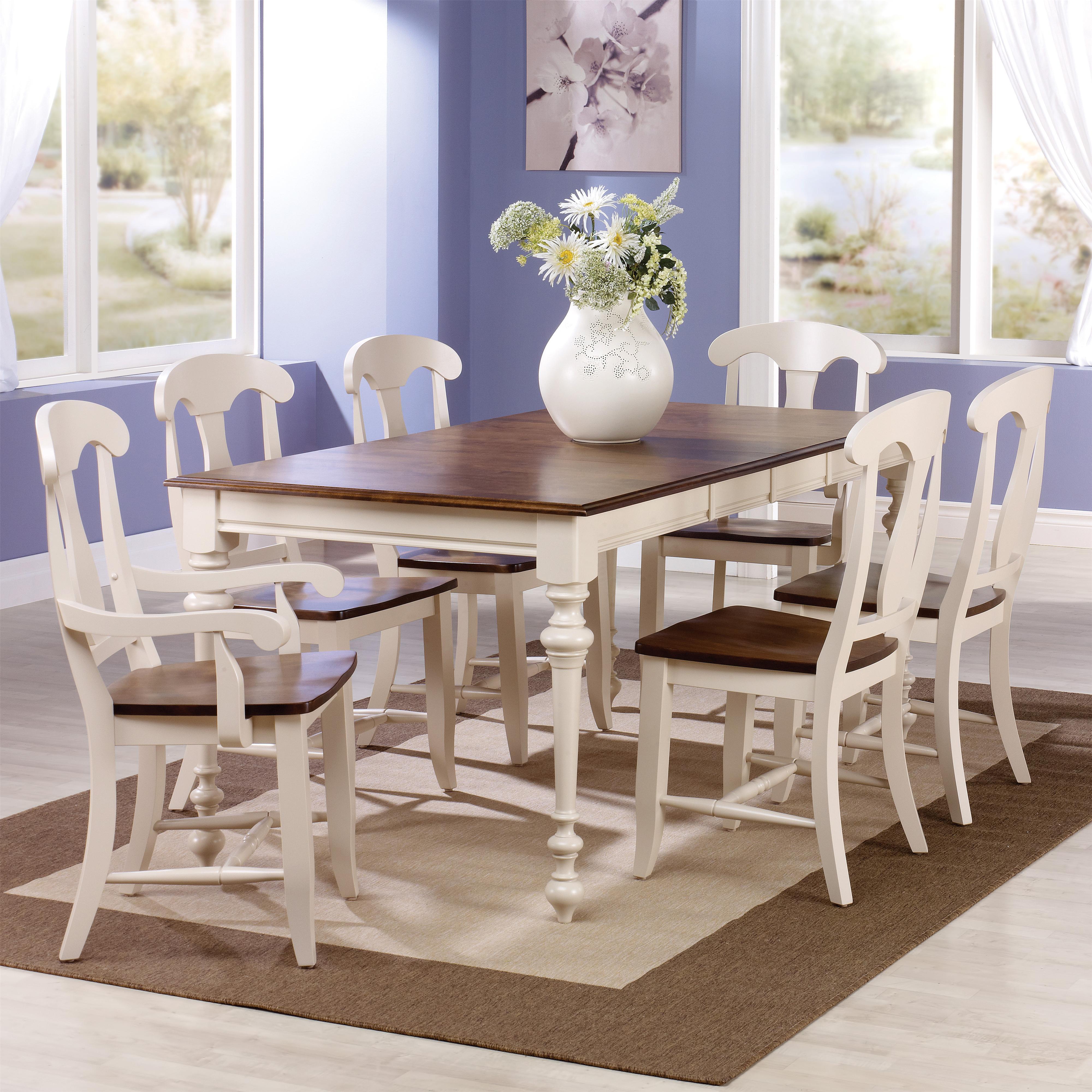 canadel custom dining customizable rectangular table with leaf set belfort furniture dining. Black Bedroom Furniture Sets. Home Design Ideas