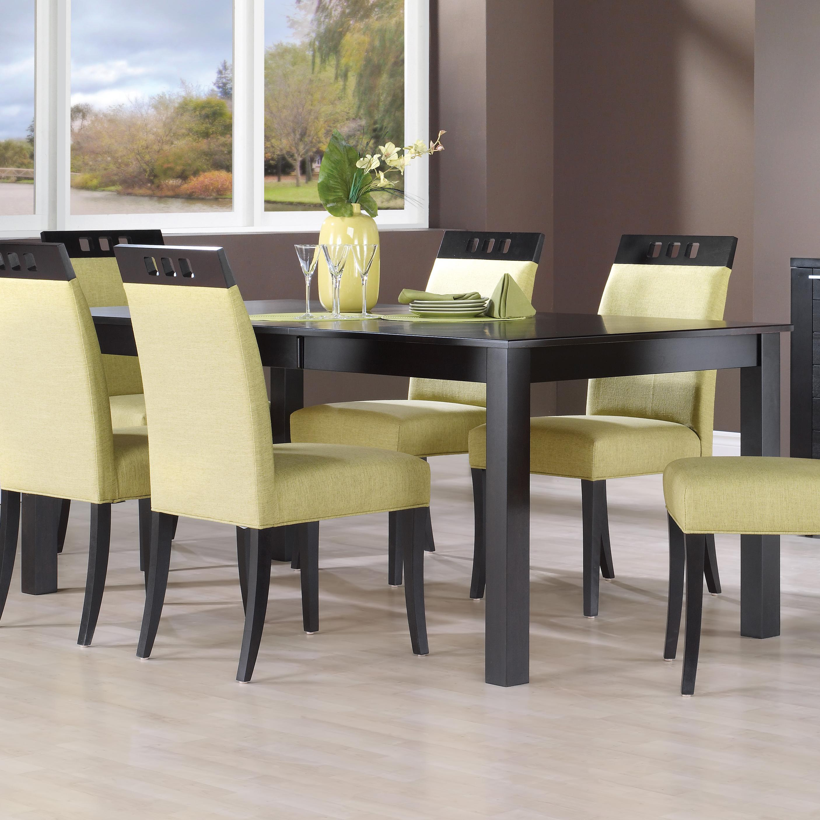 canadel custom dining tre038680505mhdd1 customizable rectangular table with legs becker. Black Bedroom Furniture Sets. Home Design Ideas