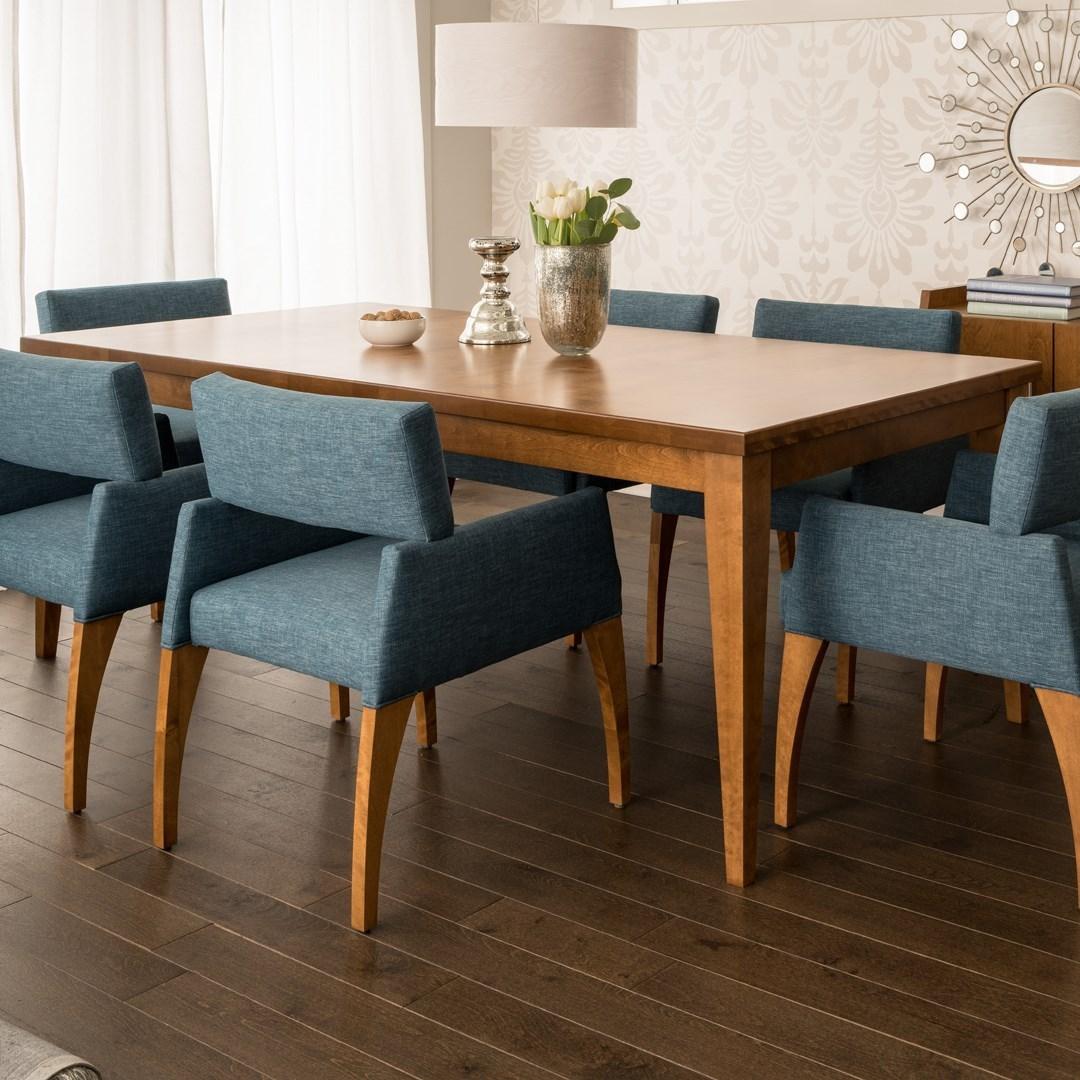 canadel custom dining customizable contemporary rectangular dining table jacksonville. Black Bedroom Furniture Sets. Home Design Ideas