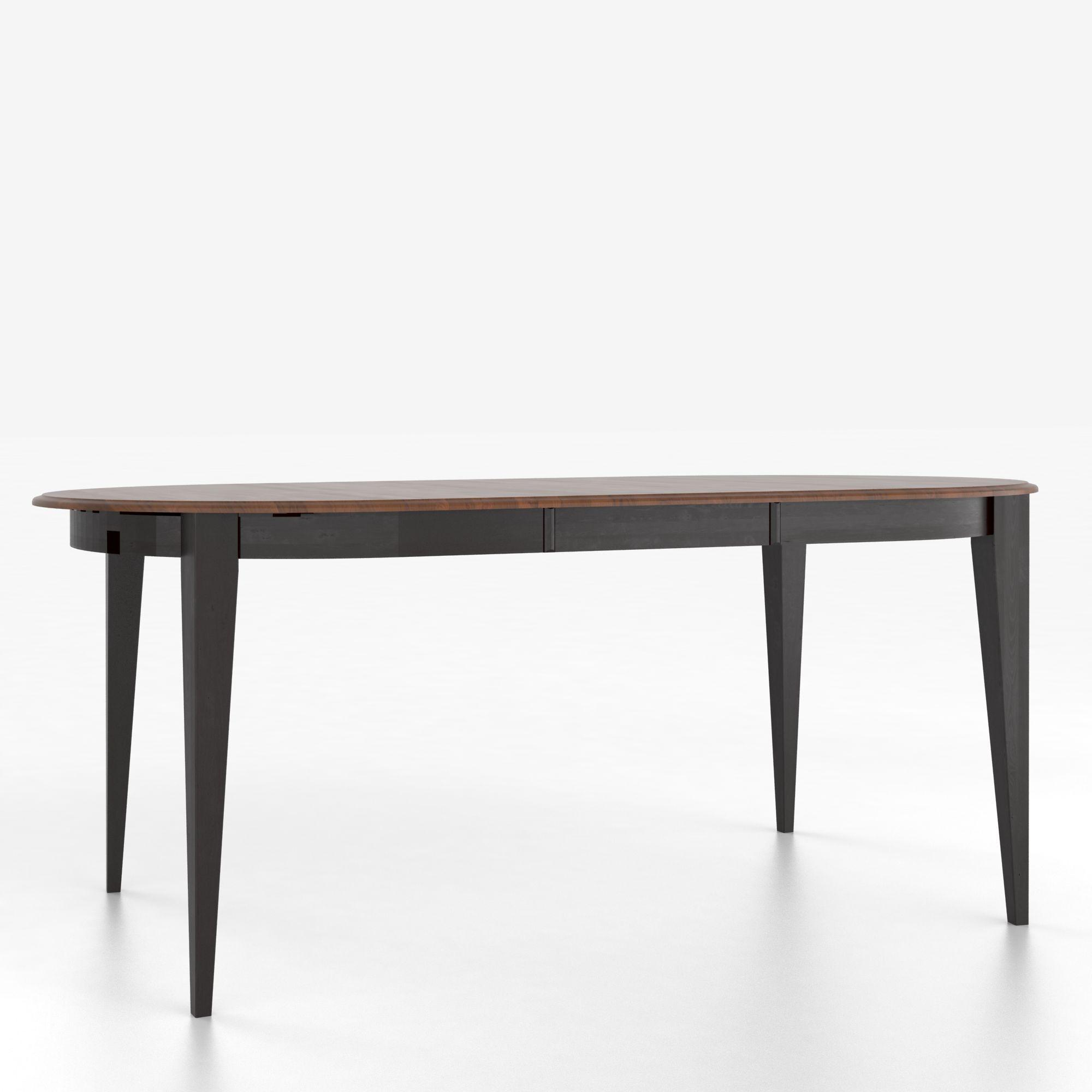 canadel custom dining tables customizable oval counter height table with legs dinette depot. Black Bedroom Furniture Sets. Home Design Ideas