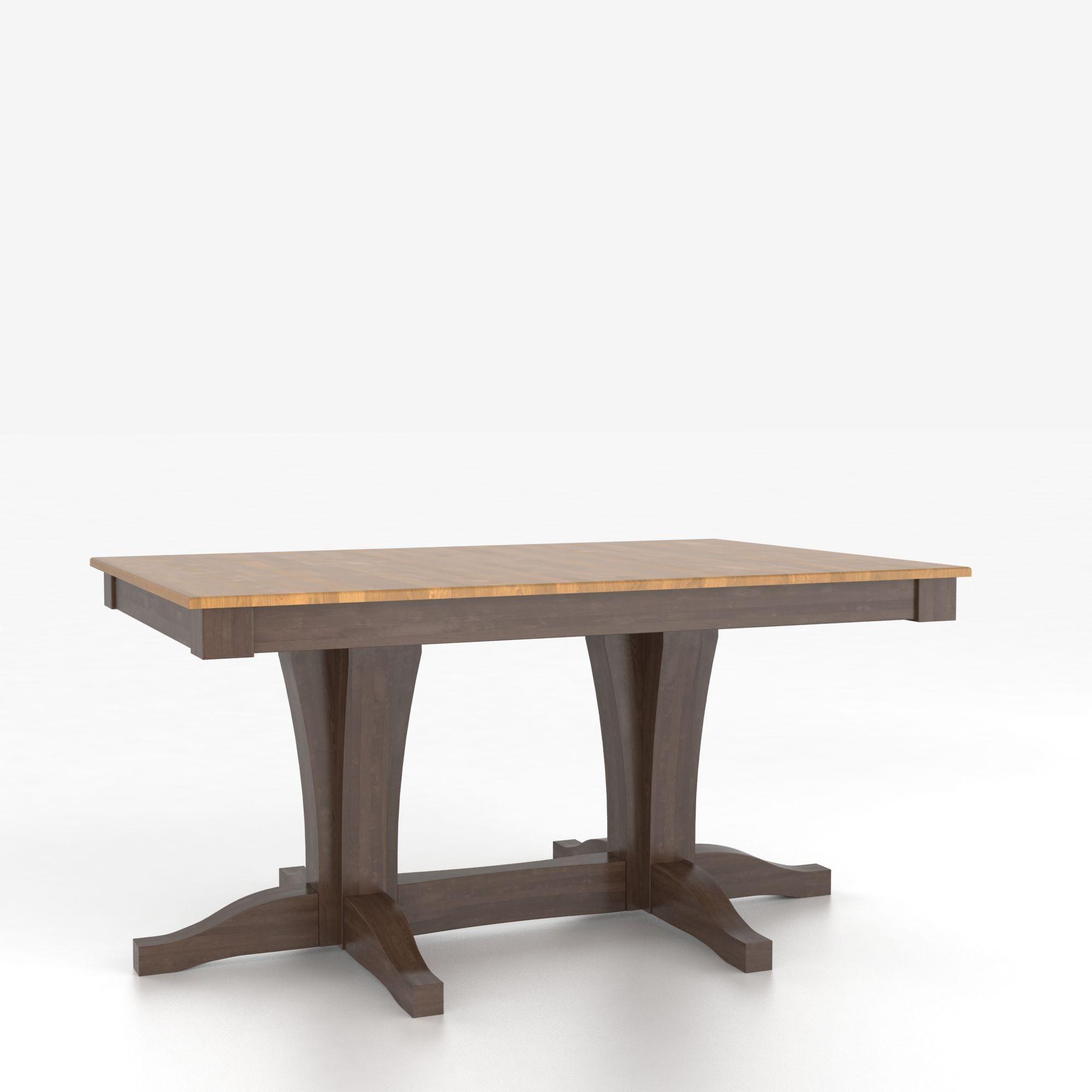 canadel custom dining tables customizable rectangular table with pedestal darvin furniture. Black Bedroom Furniture Sets. Home Design Ideas