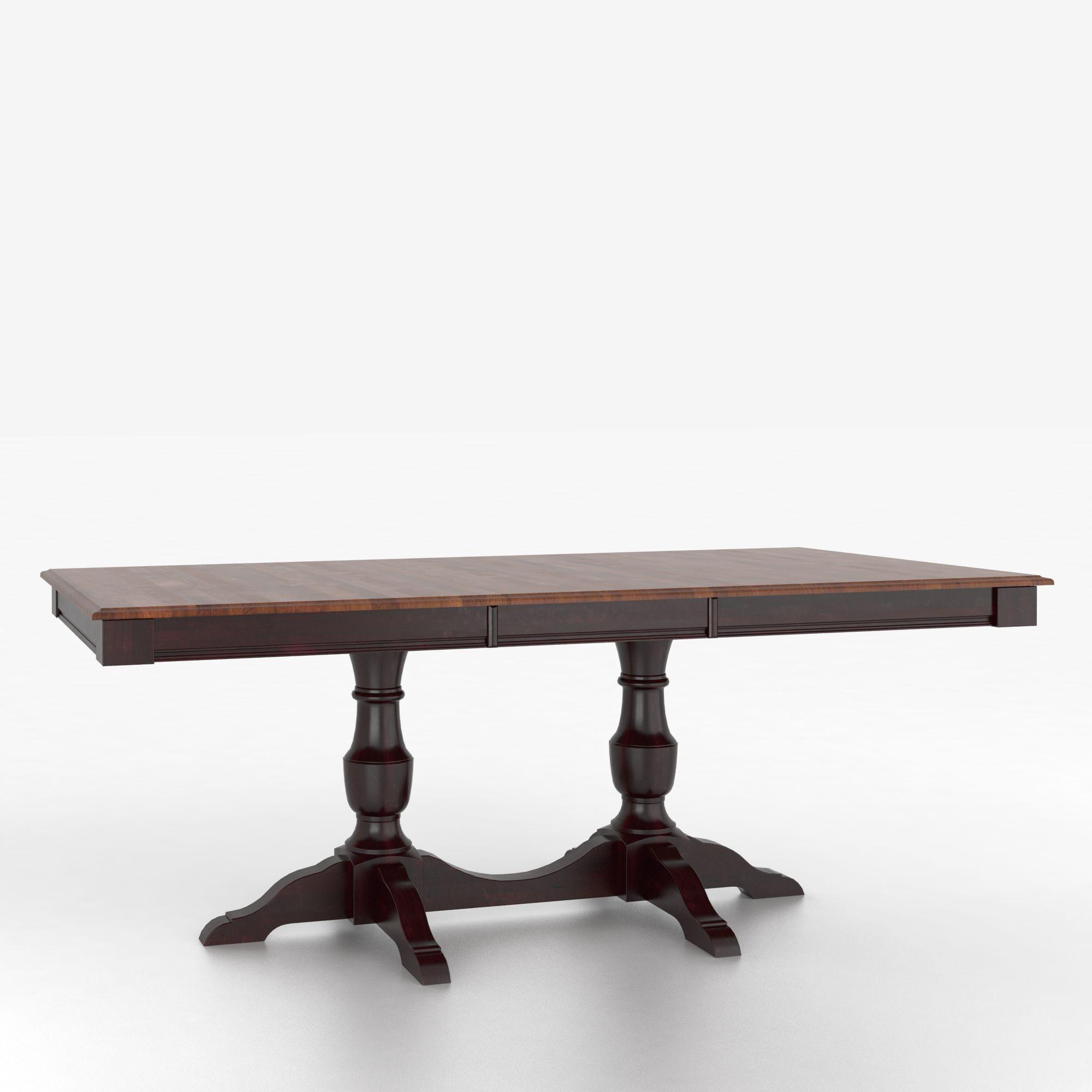 Canadel custom dining tables tre036682812mxpa1 customizable rectangular table with pedestal - Pedestal dining table rectangular ...
