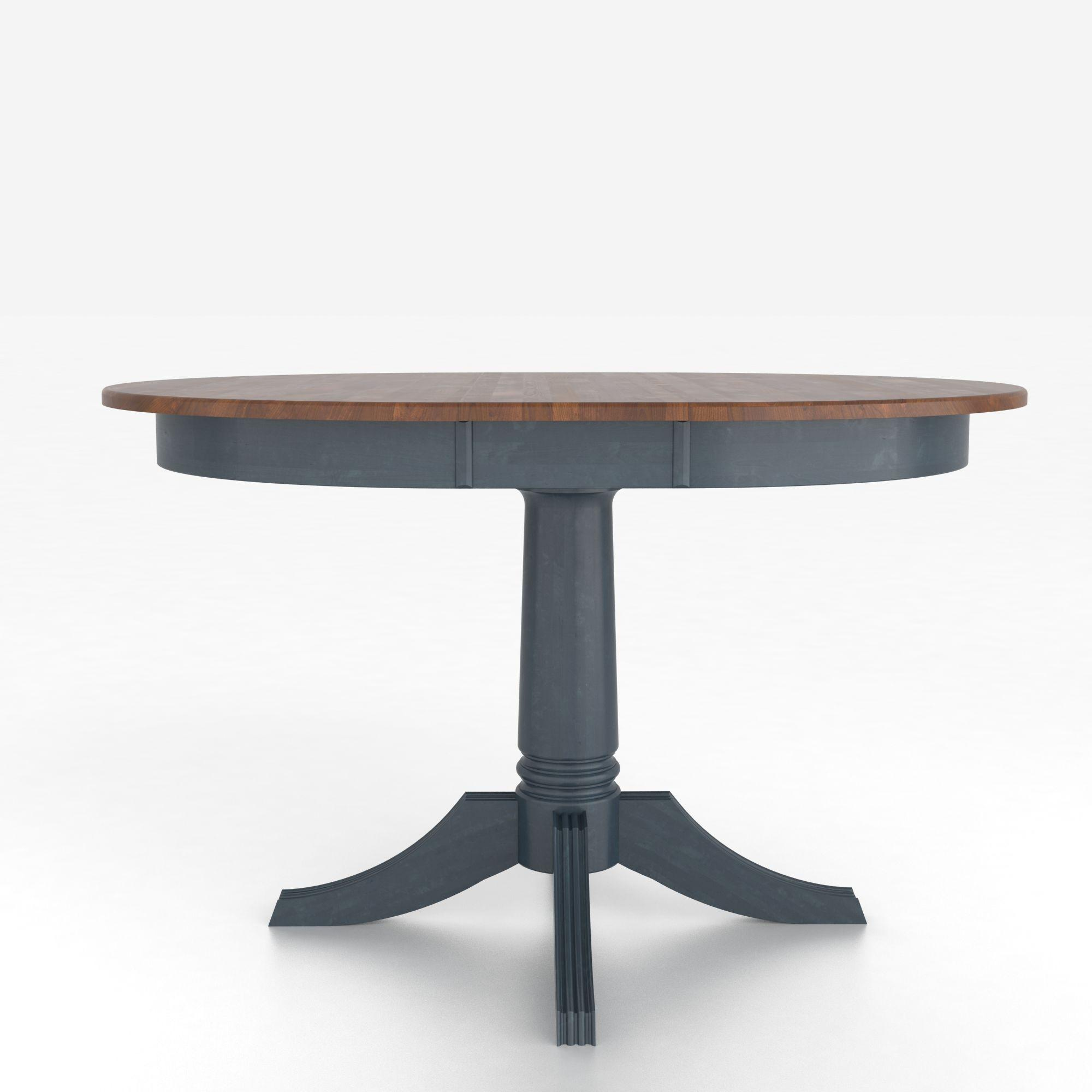 canadel custom dining tables customizable round table with pedestal belfort furniture dining. Black Bedroom Furniture Sets. Home Design Ideas