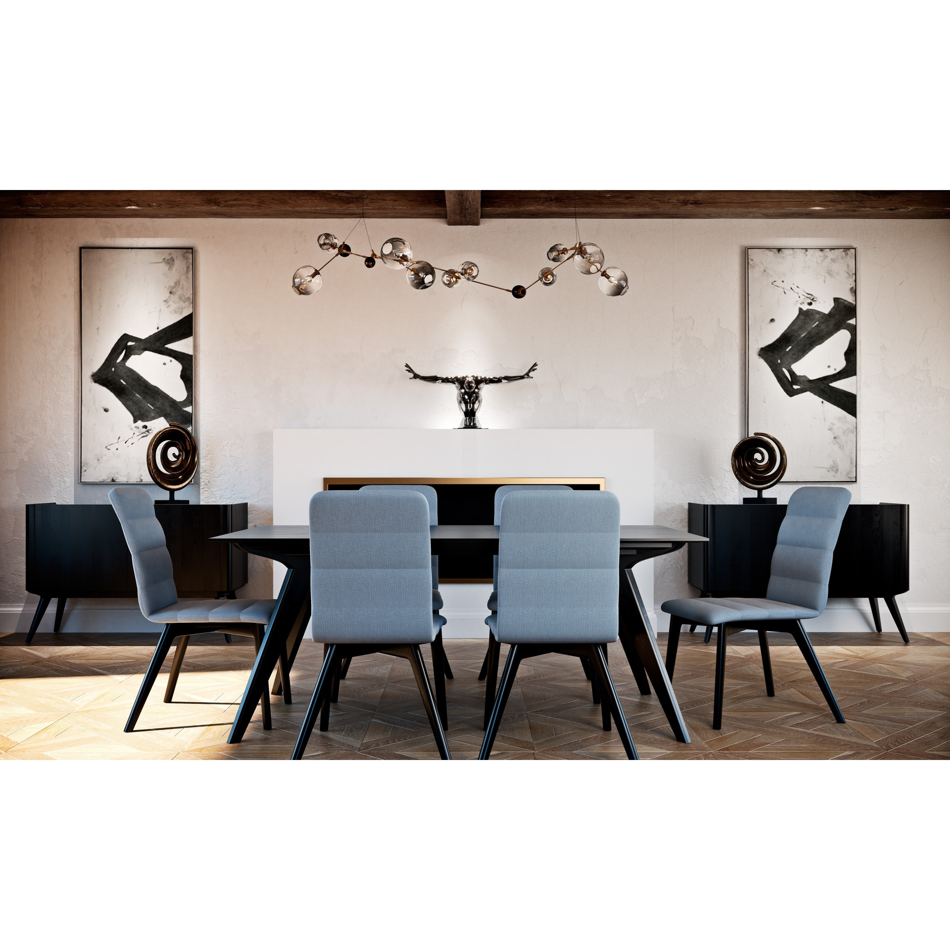 Canadel downtown custom dining casual dining room group for Informal dining