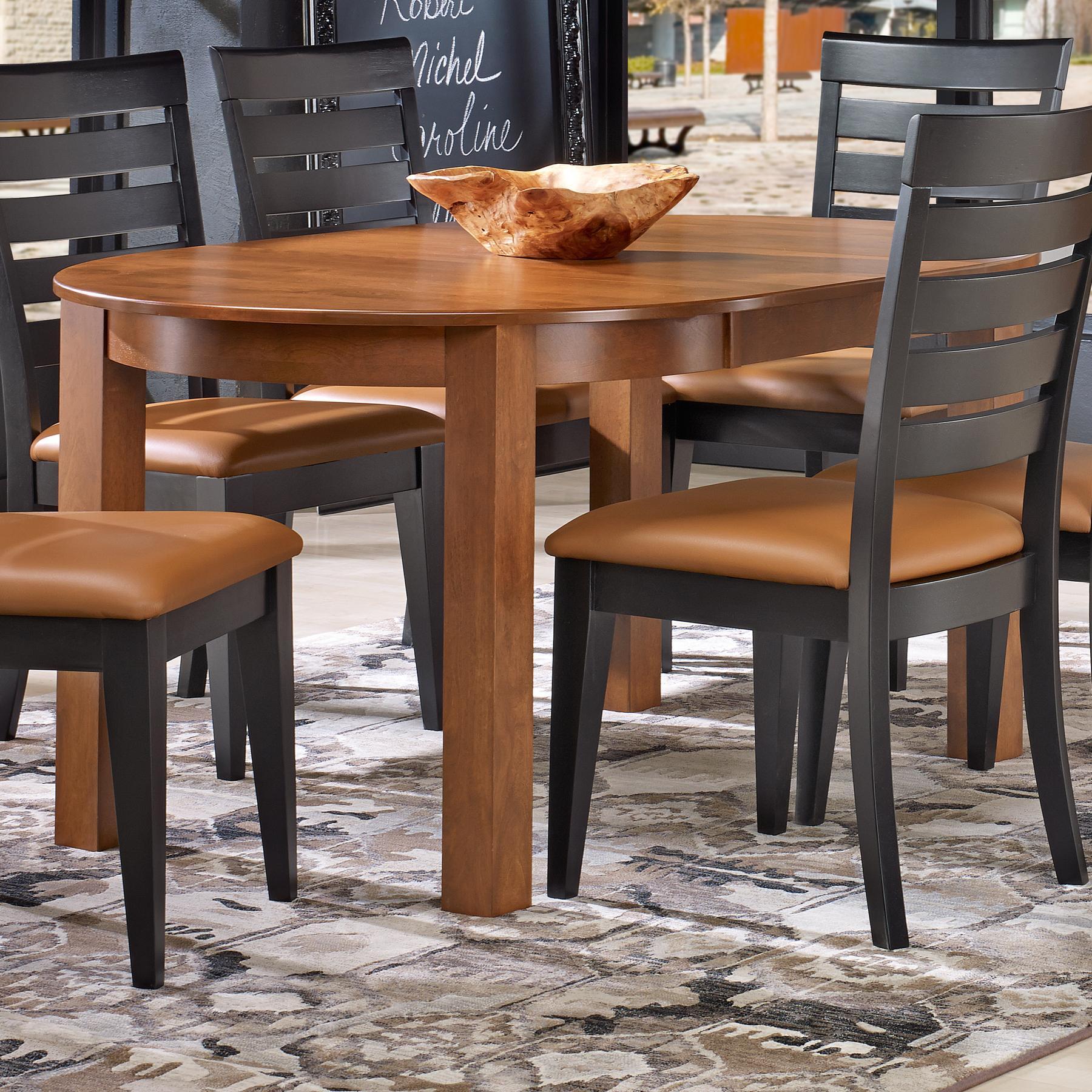 canadel gourmet custom dining customizable round leg table with leaf belfort furniture. Black Bedroom Furniture Sets. Home Design Ideas