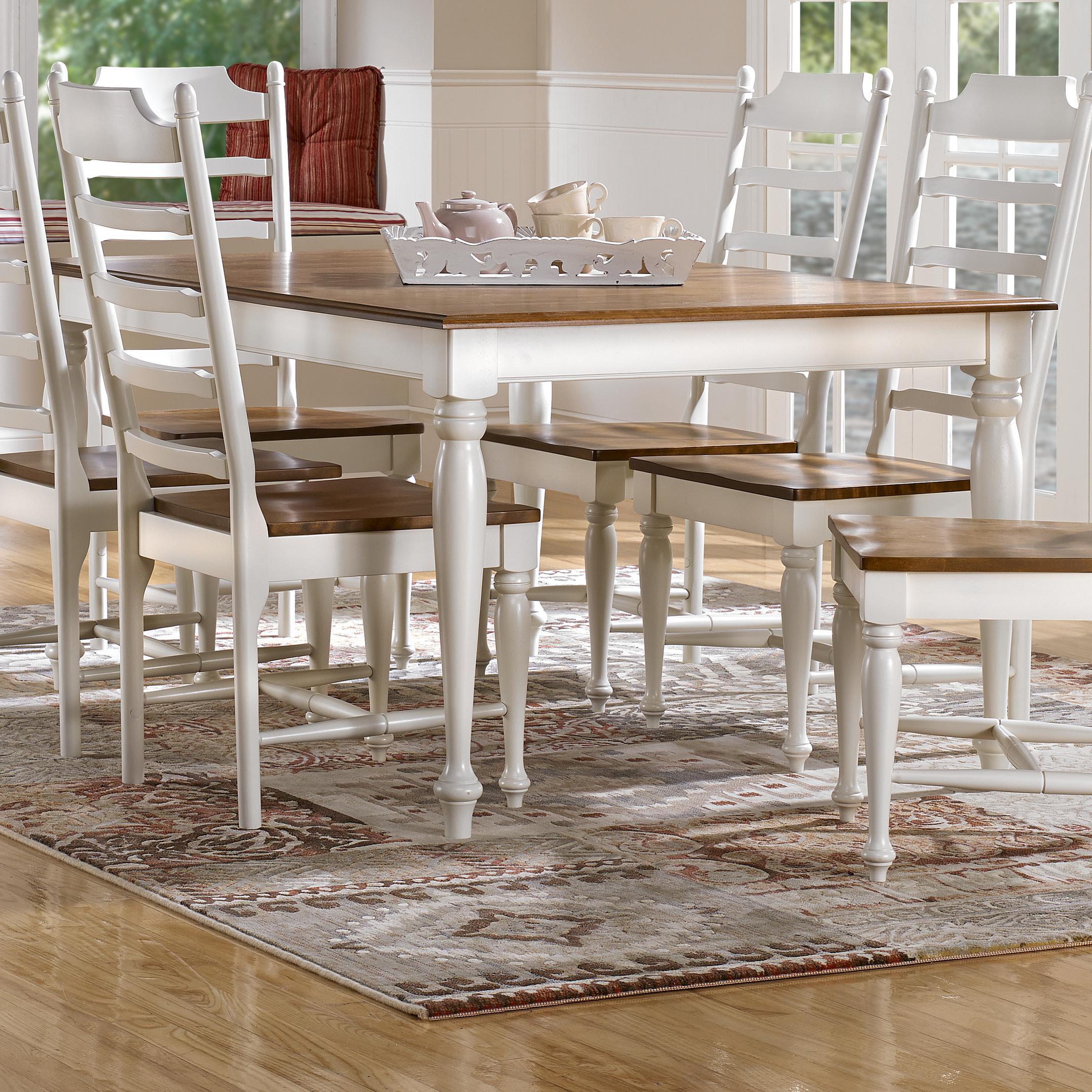 canadel gourmet custom dining customizable rectangular table belfort furniture kitchen tables. Black Bedroom Furniture Sets. Home Design Ideas
