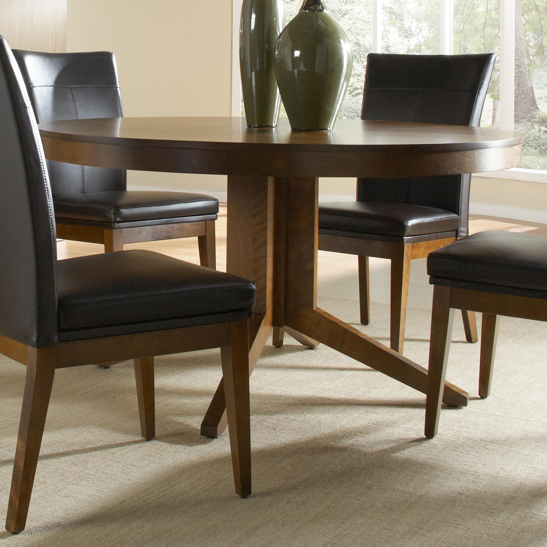 canadel custom dining customizable round table with pedestal dinette depot kitchen tables. Black Bedroom Furniture Sets. Home Design Ideas