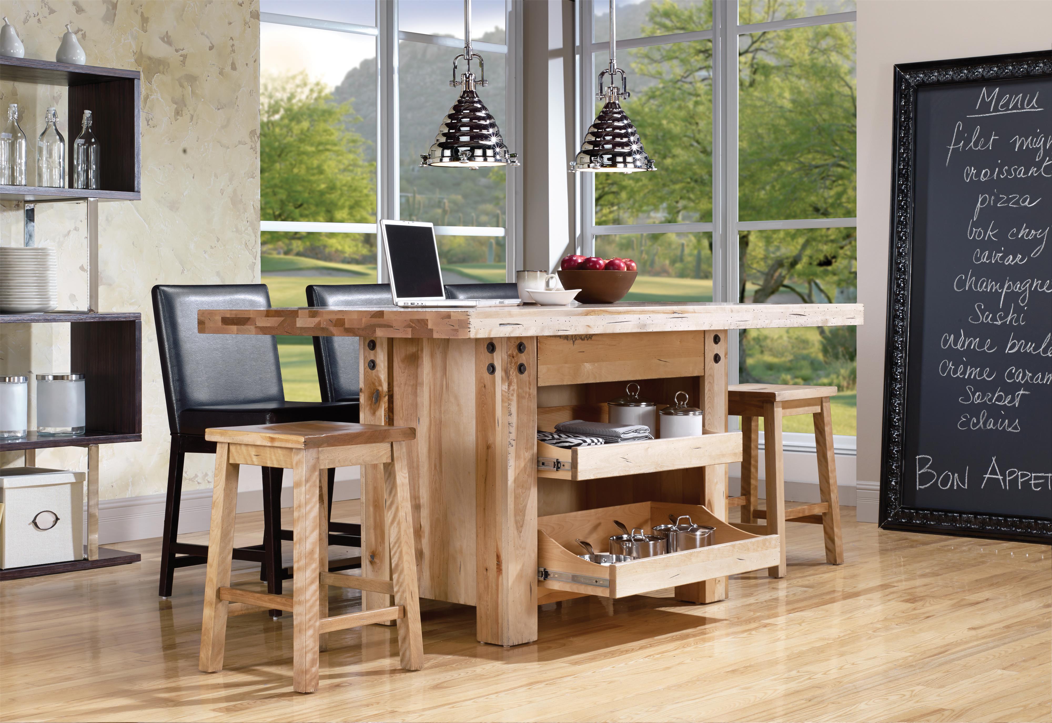 Canadel loft custom dining customizable island table - Table salle a manger originale ...