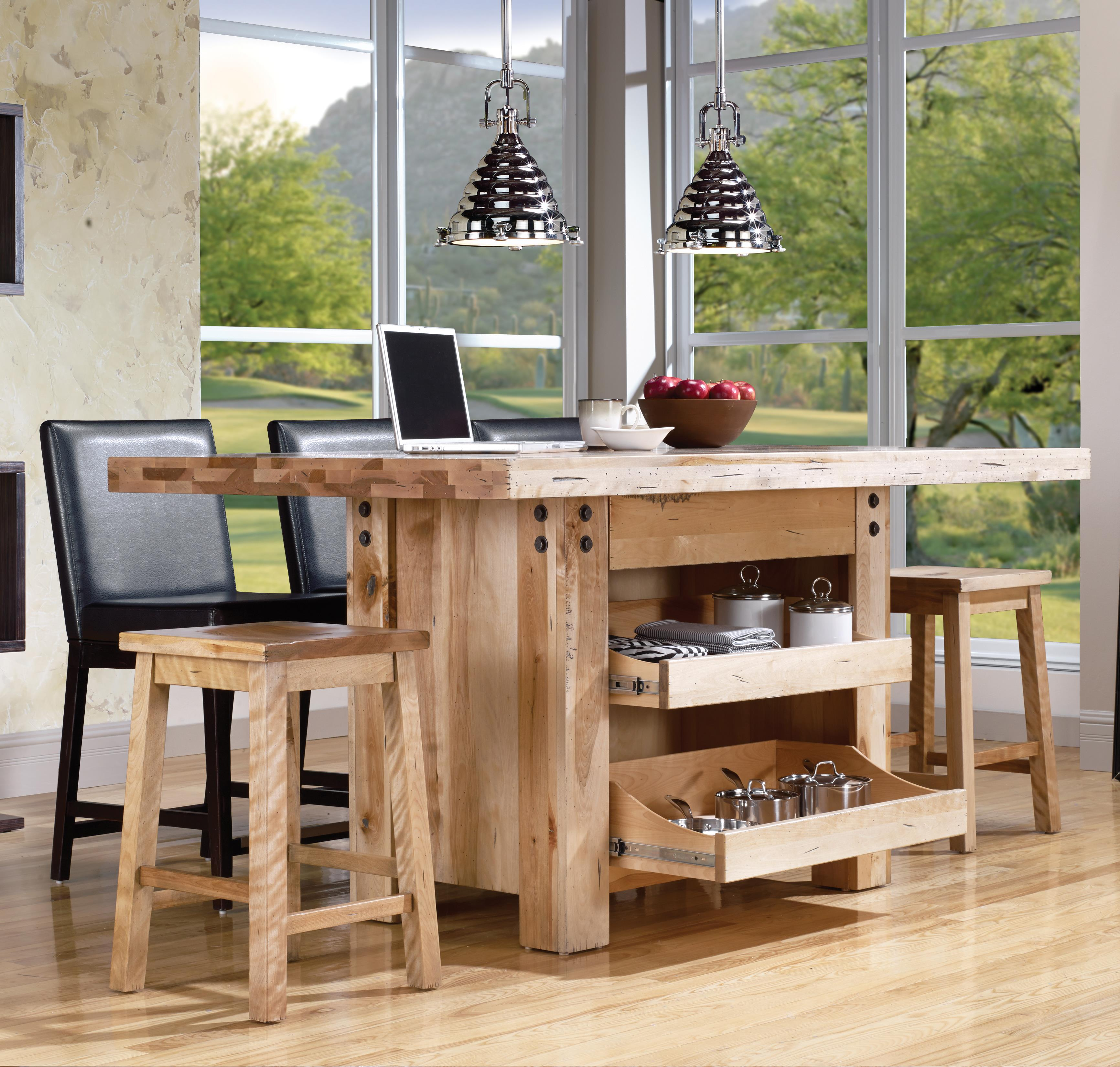 Canadel Loft Custom Dining Customizable Island Table Set