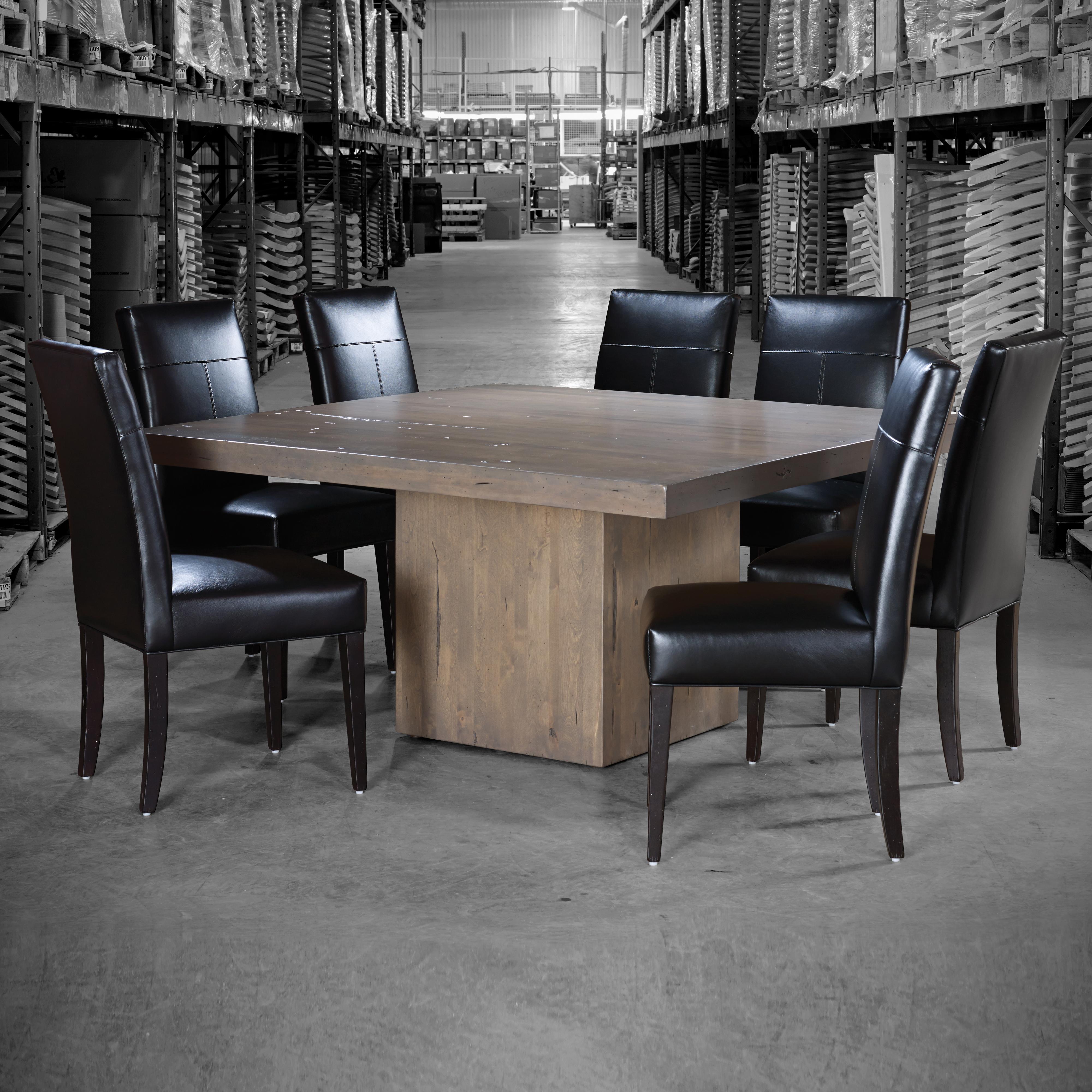 canadel loft custom dining customizable square table with block pedestal becker furniture. Black Bedroom Furniture Sets. Home Design Ideas