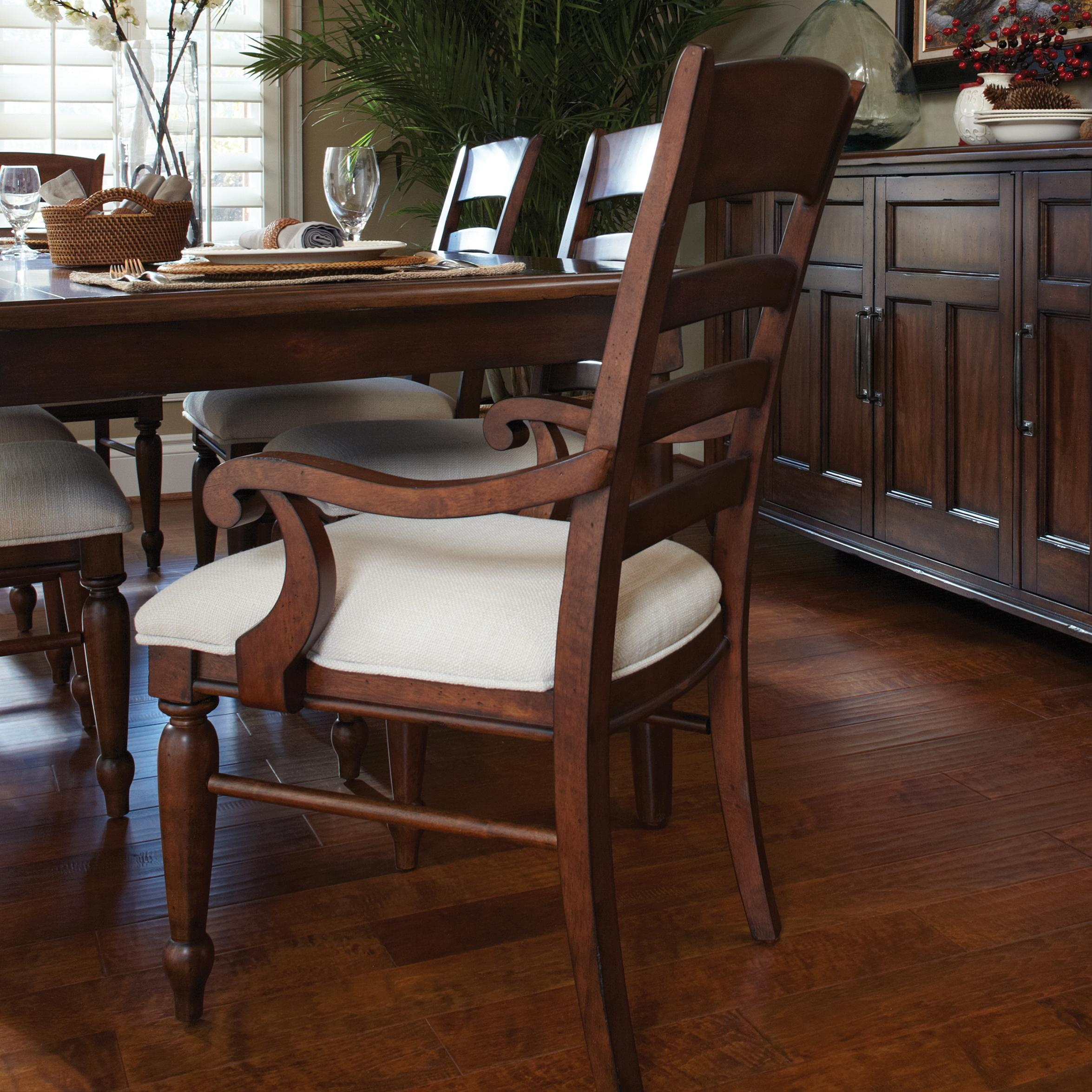 Carolina Preserves By Klaussner Blue Ridge Cherry Ladder Back Arm Chair Dream Home Furniture