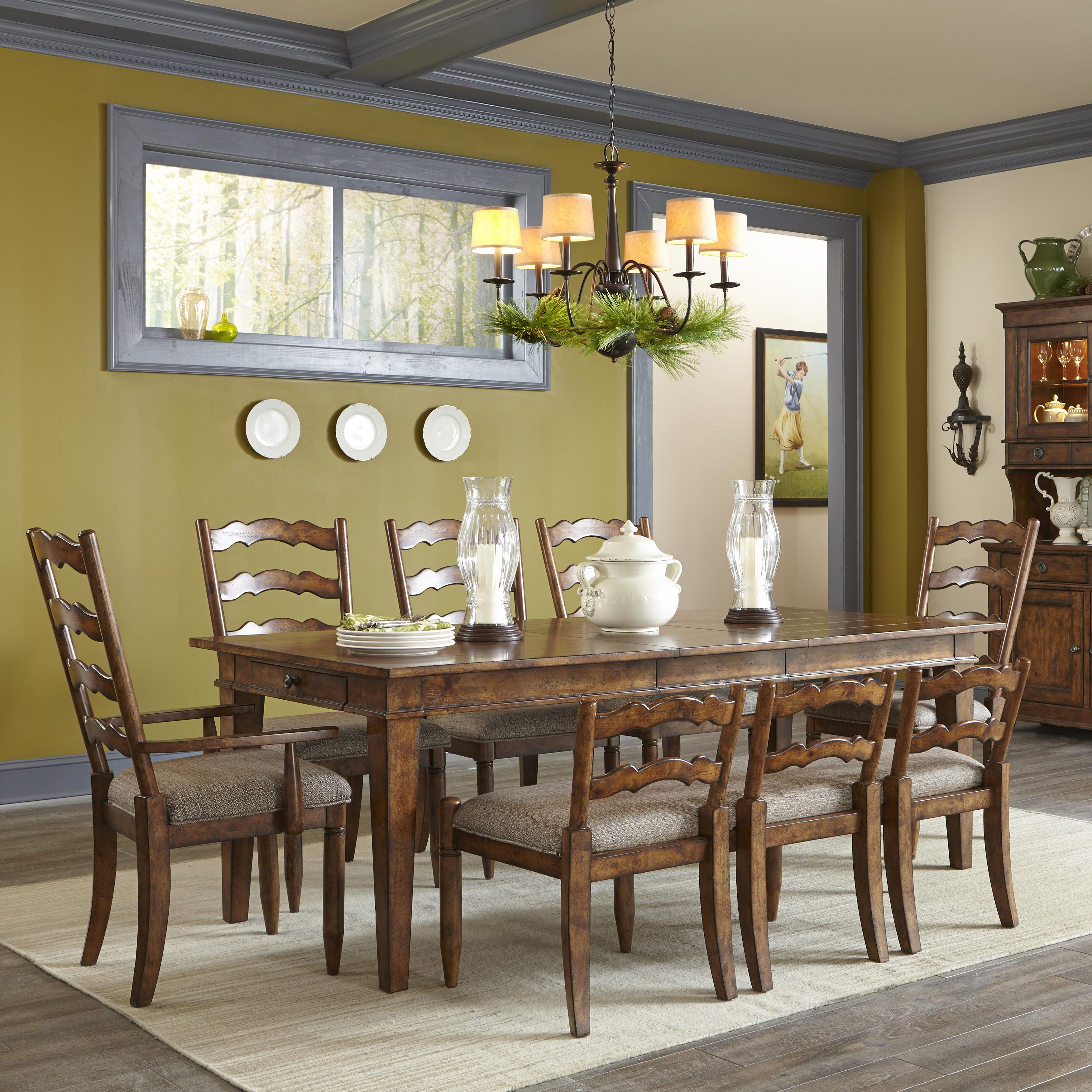 Easton collection farmhouse table set with chairs and for Dining room tables easton
