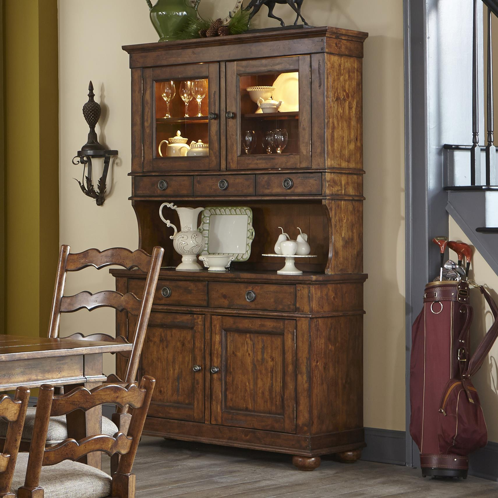 Carolina Preserves By Klaussner Southern Pines Buffet With Hutch Dream Home Furniture China