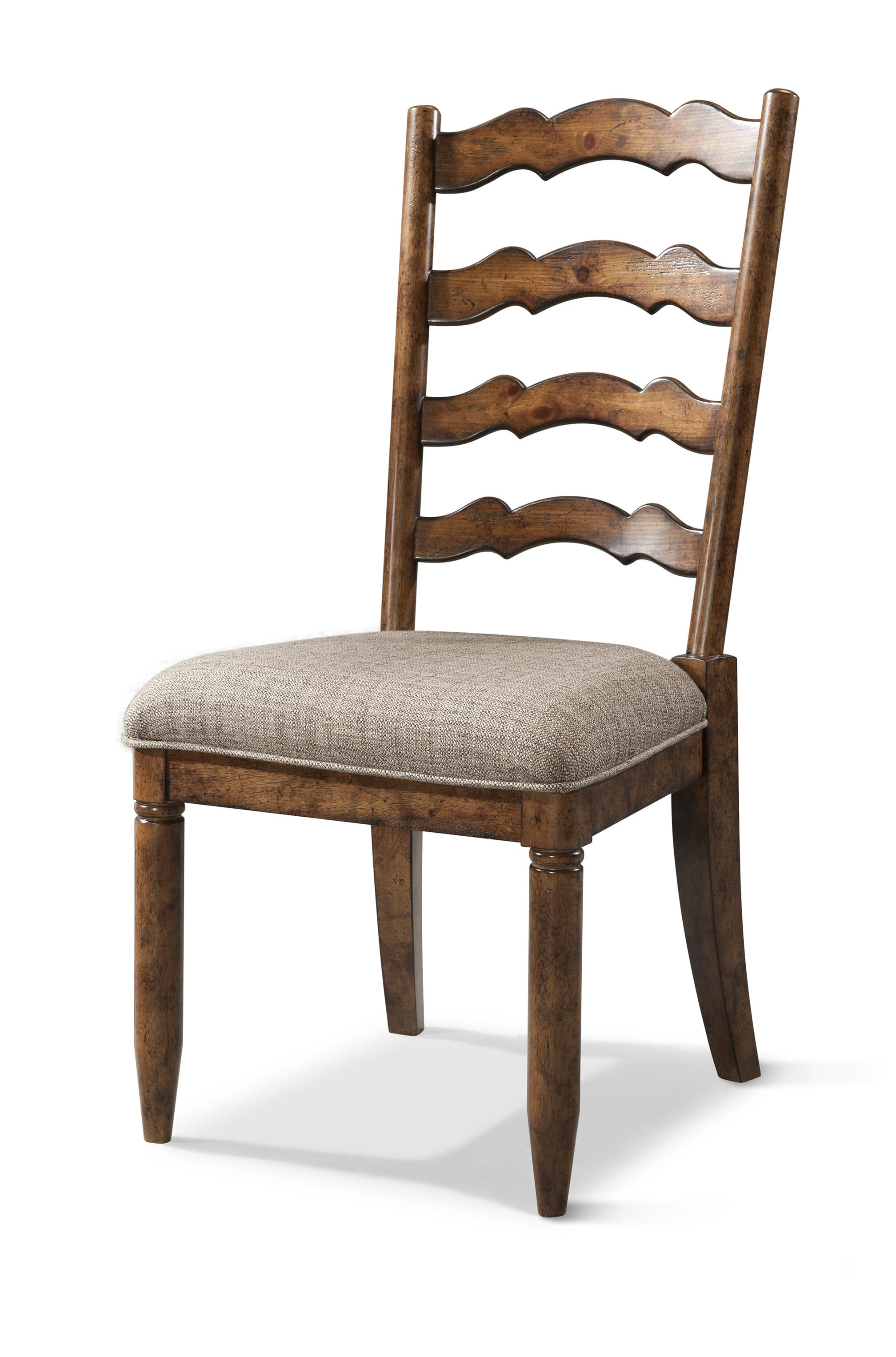 Easton collection farmhouse ladderback side chair with for Dining room tables easton