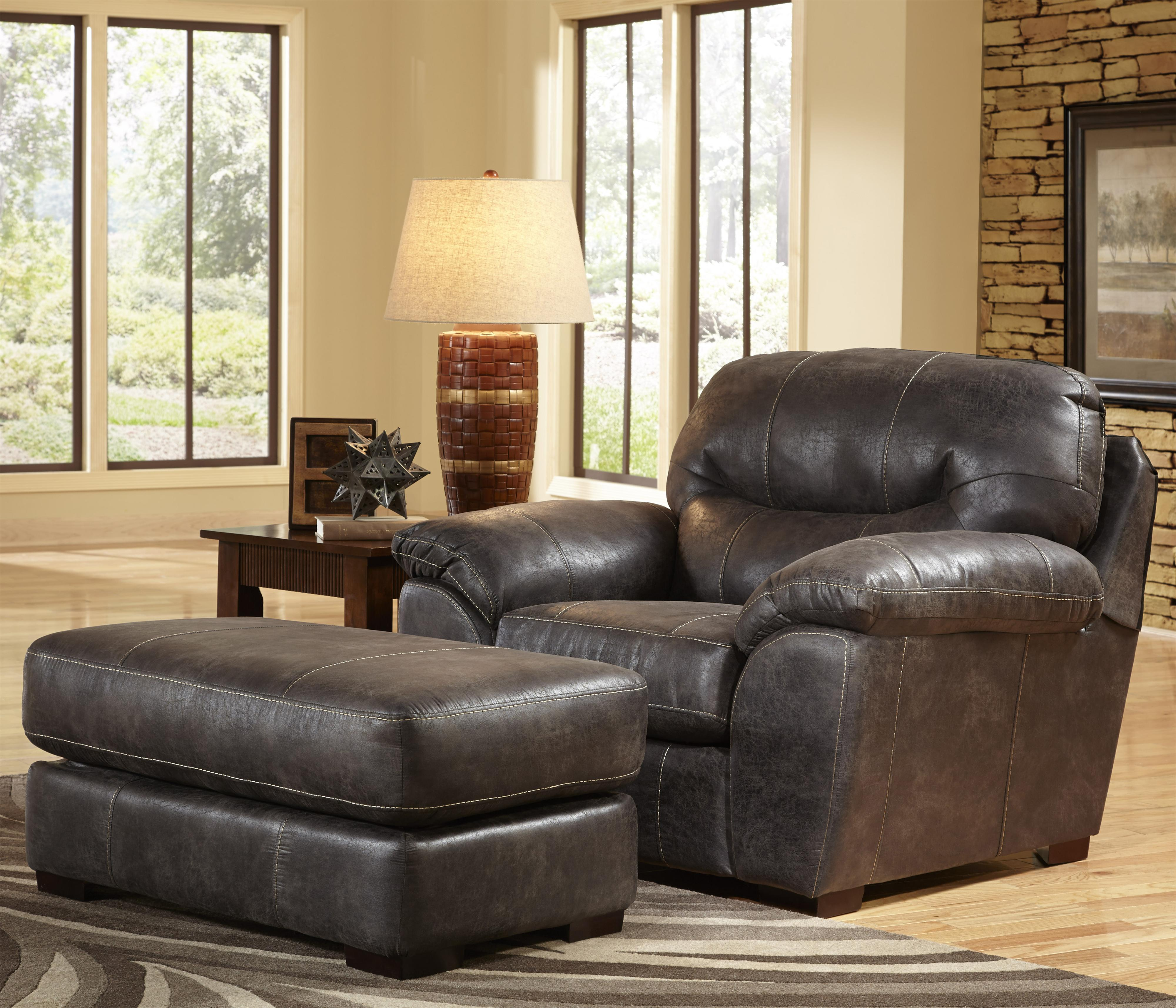 Chair and a half and ottoman set for living rooms and family rooms