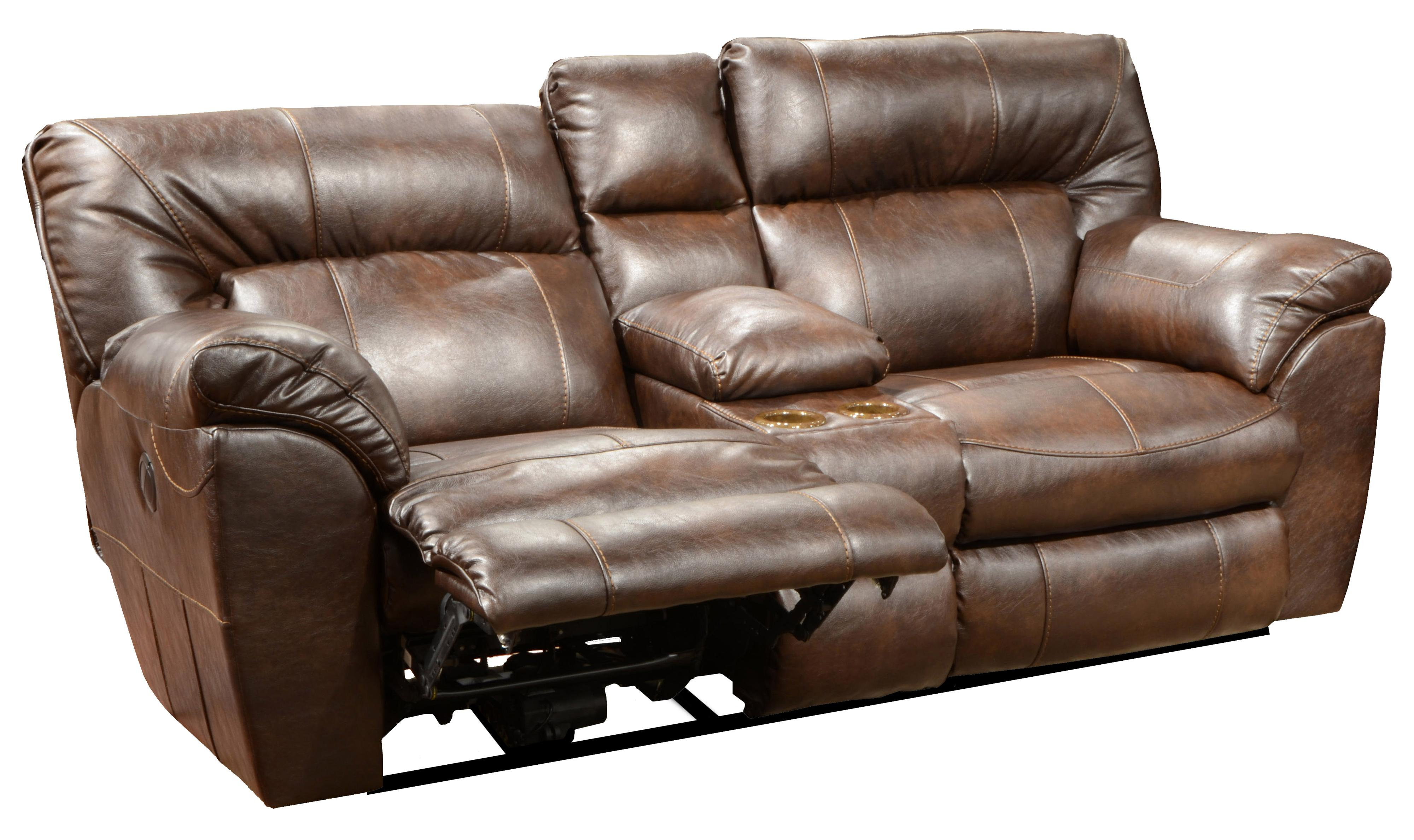 Nolan Power Extra Wide Reclining Console Loveseat With