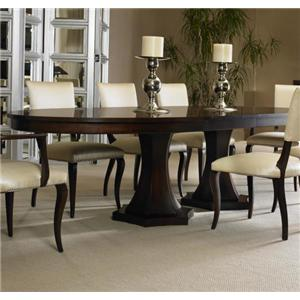 Century tribeca dining table with saber legs sprintz for Dining table nashville tn