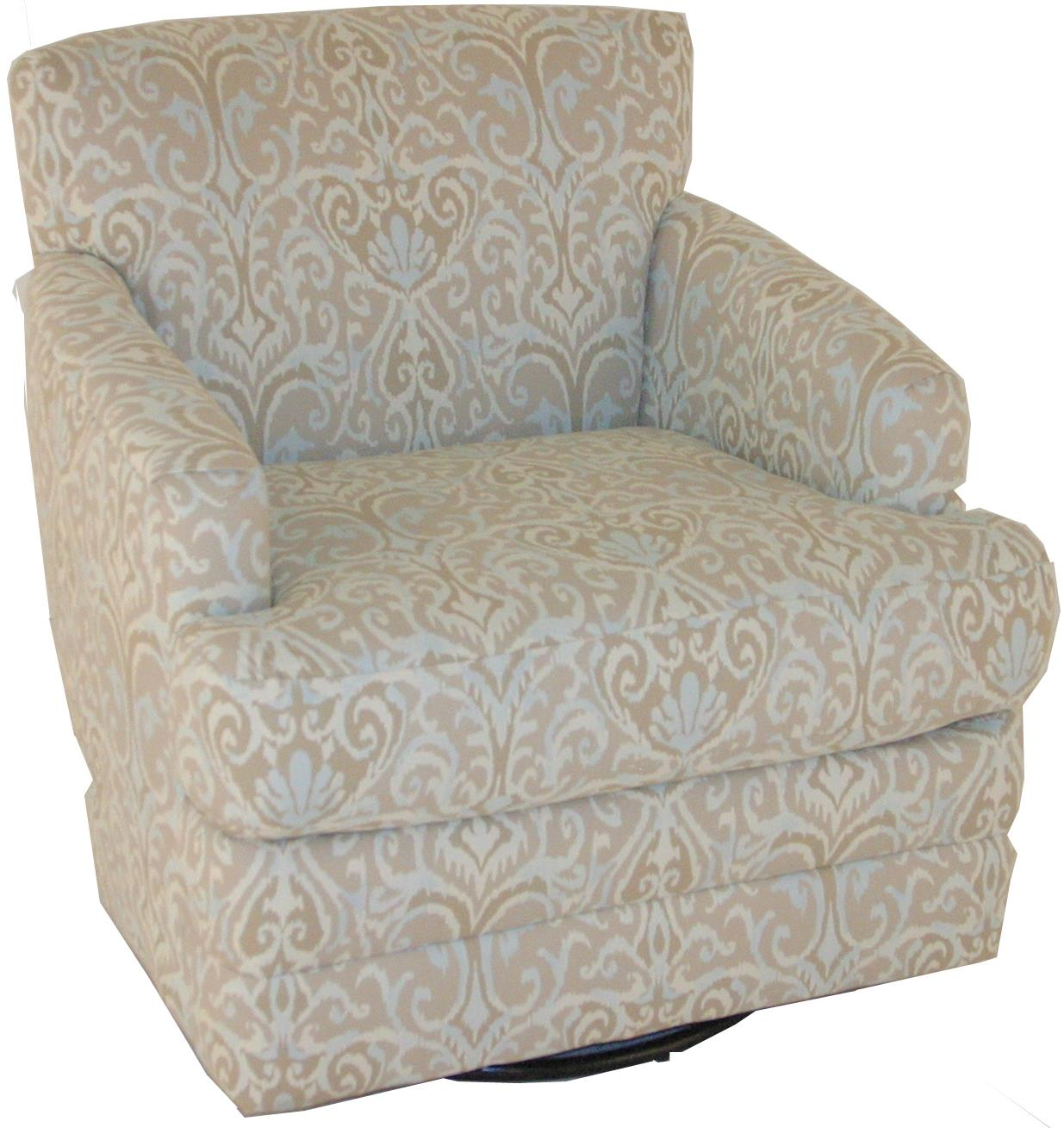 Chairs america accent chairs and ottomans transitional for Swivel accent chairs with arms