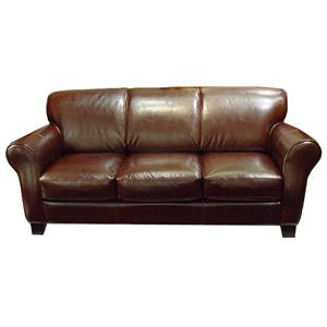 Chateau d39ax u681 leather chair with ottoman for Chateau d ax sectional leather sofa