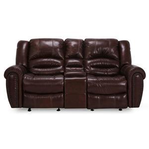 Cheers Sofa UXW8295M Reclining Sofa With Nailhead Trim At