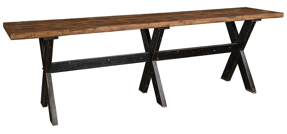 Classic home aurora gathering table with reclaimed pine for Classic home furniture jacksonville fl