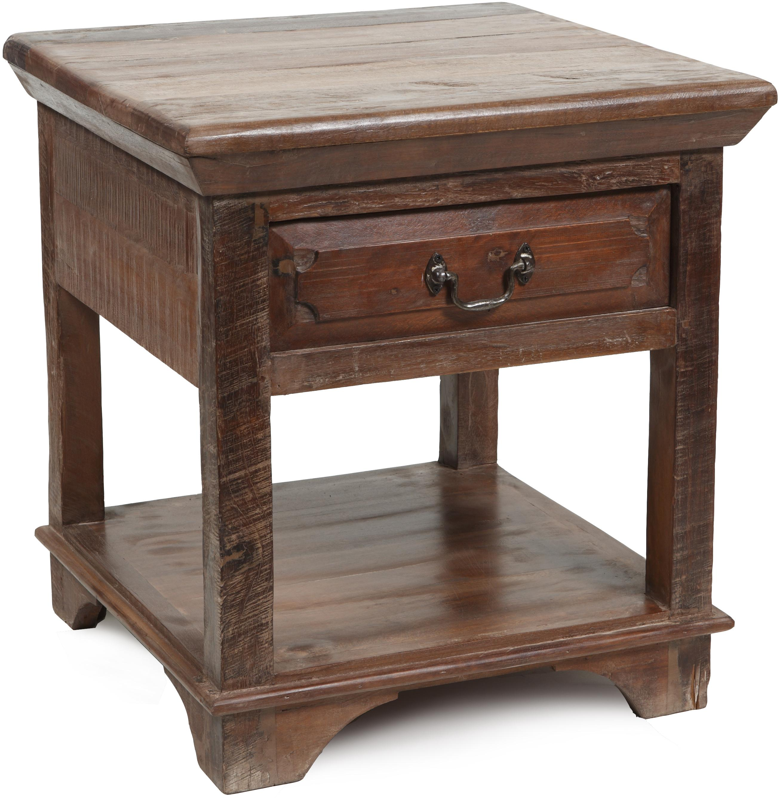 Classic Home Cambria End Table With One Drawer One Open Shelf Jacksonville Furniture Mart