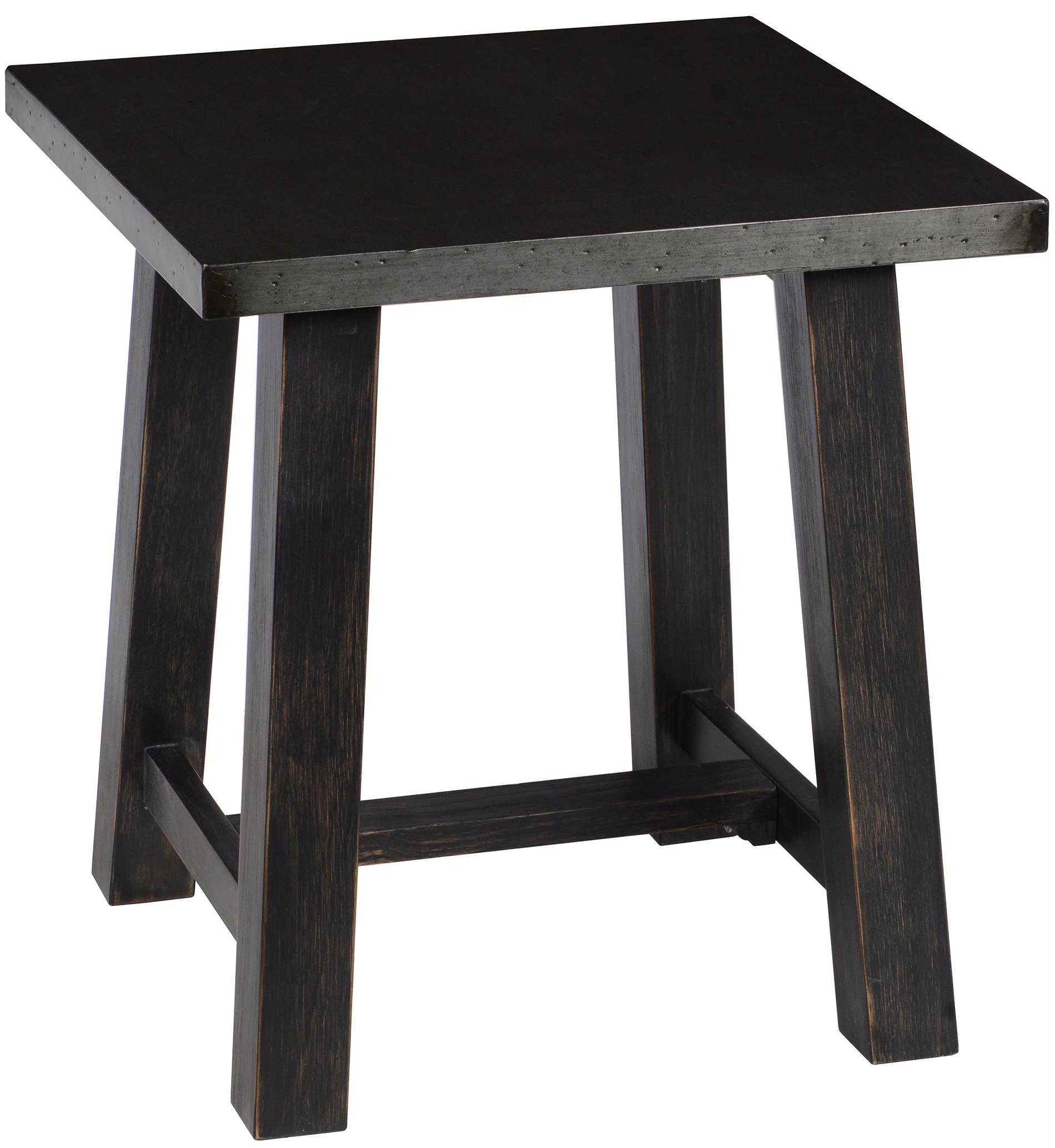 Classic Home Cole Black Hand Distressed End Table With