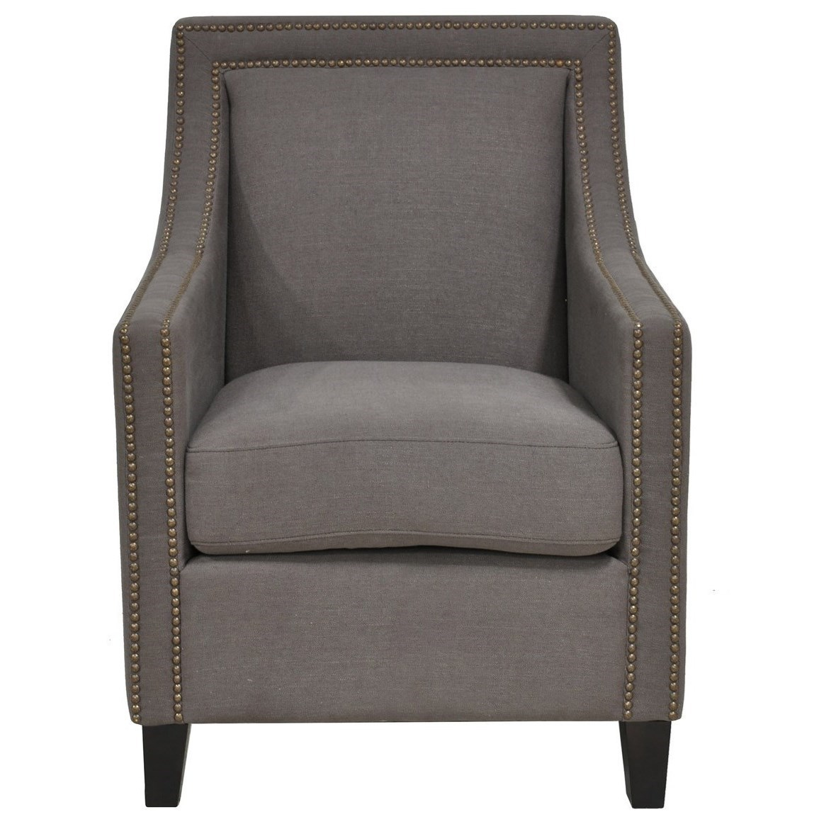 Classic home collina 53006111 club chair with nailhead for Classic home chairs