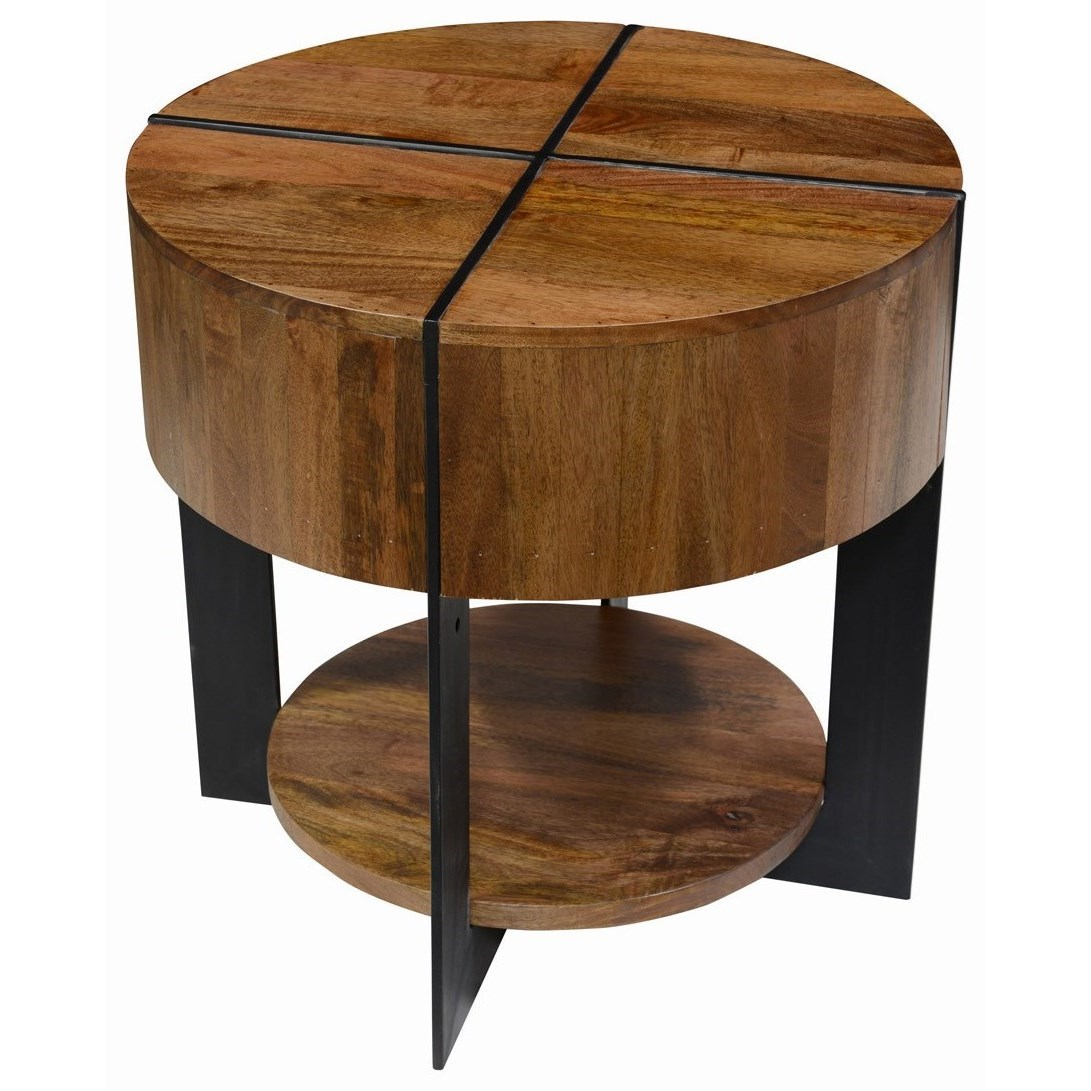 Classic Home Desmond 51010603 Round Mango Wood End Table