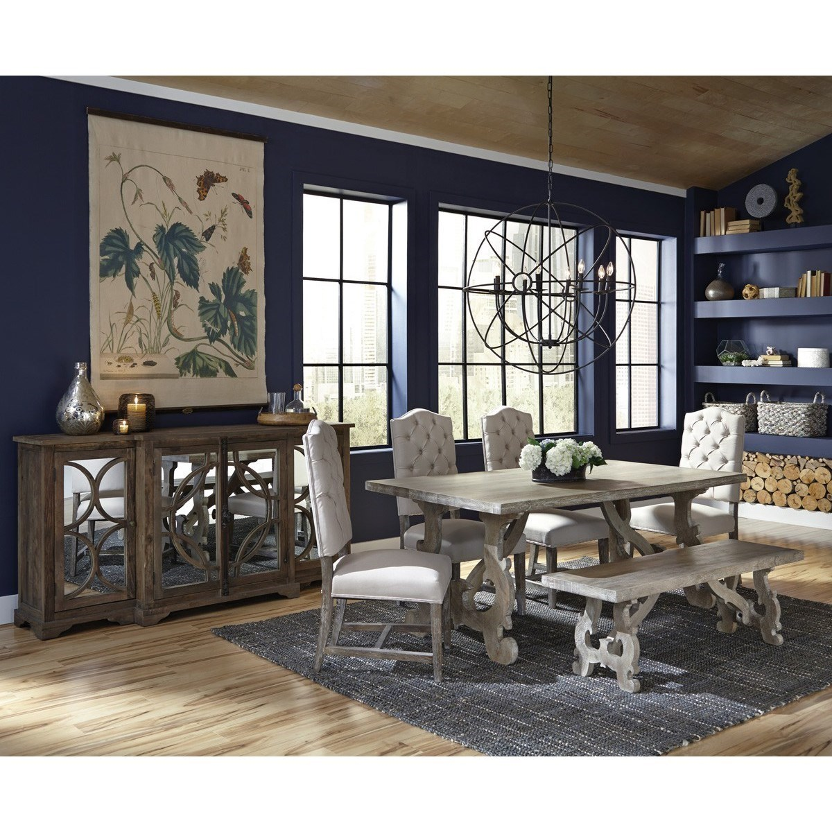 Classic home elena ch rectangular transitional solid wood for Classic home furniture jacksonville fl
